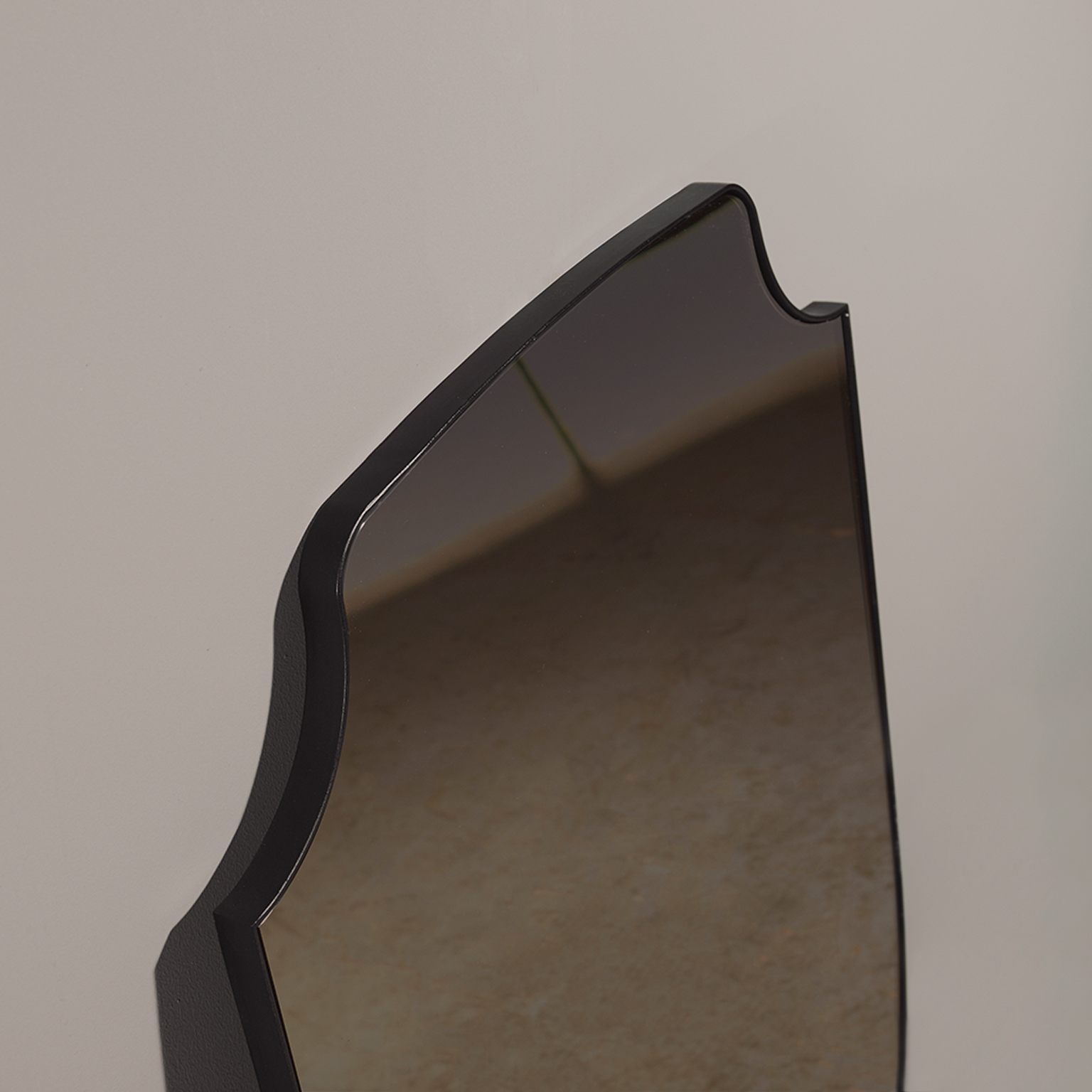 Aegis Mirror - The Aegis Mirror comes in two different frame materials so that you can choose which material best suits your space. It is unique yet modern and adds personality to the room. This mirror is a wall mirror. It has been hand crafted in the North of England to order. Custom sizes and finishes are available.</p>  | Matter of Stuff