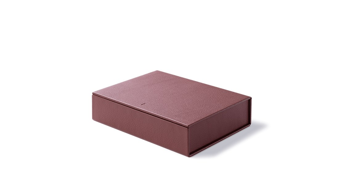 Leather Box - Our bespoke leather box is in keeping with our dedication to craftsmanship and appreciation of material-driven designs. Each box is handmade by August Sandgren, masters of traditional box making techniques dating back a century. Combining functionality and aesthetics in a timeless design for storing small items or as a decorative element for hotels and private residences.