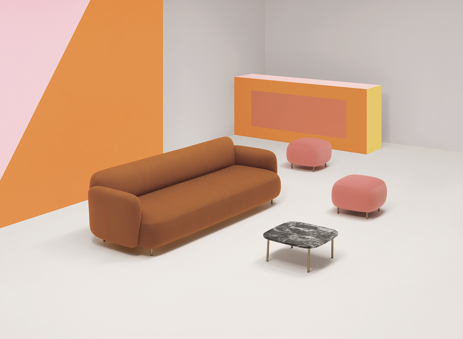 Buddy Large Sofa - <p>A three-seater sofa that, while maintaining the collection's friendly and reassuring design, adds further comfort to the seat, thanks to a combination of four different densities of polyurethane foam supported by elastic belts, offering greater softness for a domestic environment in which one feels truly pampered.  The sofa is incredibly versatile: not only is it available with or without armrests, but several seating modules can be positioned together. Version with removable covers available on request.</p>  | Matter of Stuff