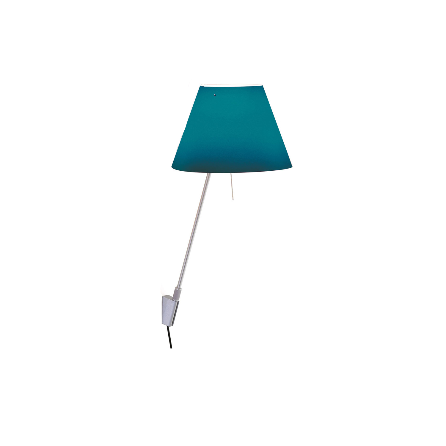 Costanzina Wall Lamp - The polycarbonate shade is light and interchangeable, to warm up any living space. The control rod is within easy reach near the light source.    | Matter of Stuff