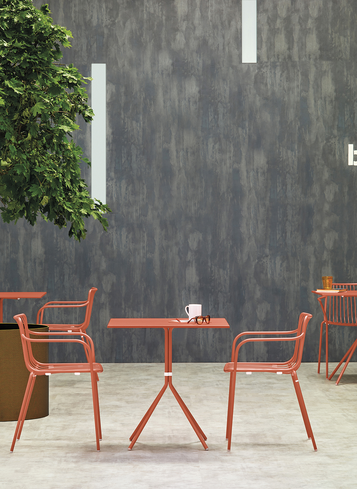 Nolita Armchair - <p>Nolita is a family of outdoor seatings which recalls the origins of a historic course started by Mario Pedrali in 1963 with his first metal garden chairs. Armchair with high backrest, steel tube frame powder coated for outdoor use.</p>  | Matter of Stuff