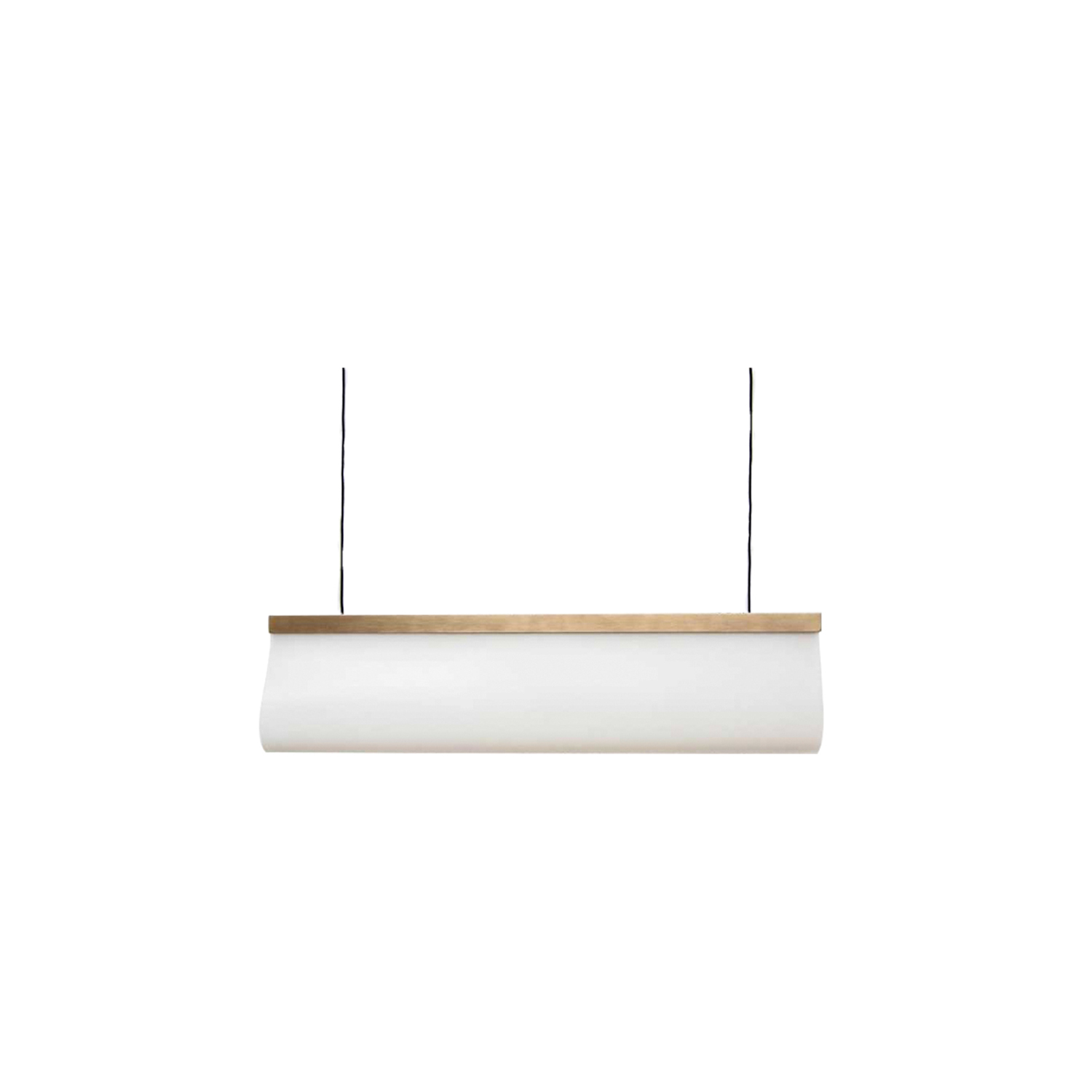 Calypso 60 Pendant - The Calypso 60 Pendant is made from silicone with a brass frame. Silicone is well known for its multiple qualities, whilst its relationship with light is still to be researched.By using a pmma profile, the hidden led light is focused and directed towards the silicone diffuser, which in return lights up with soft shades of warm light.The result is a unique entity that glows gently, apparently generating light itself. This piece is hand made and is therefore unique.   | Matter of Stuff