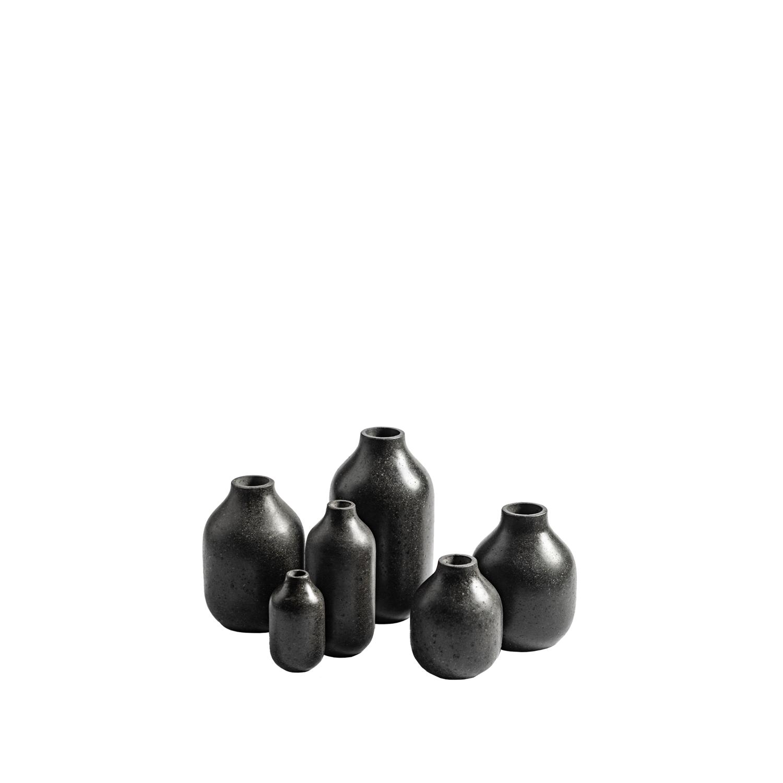 Etna Vases 2- Set of 6 - Set of 6 vases made from volcanic stone honed finish.   Matter of Stuff