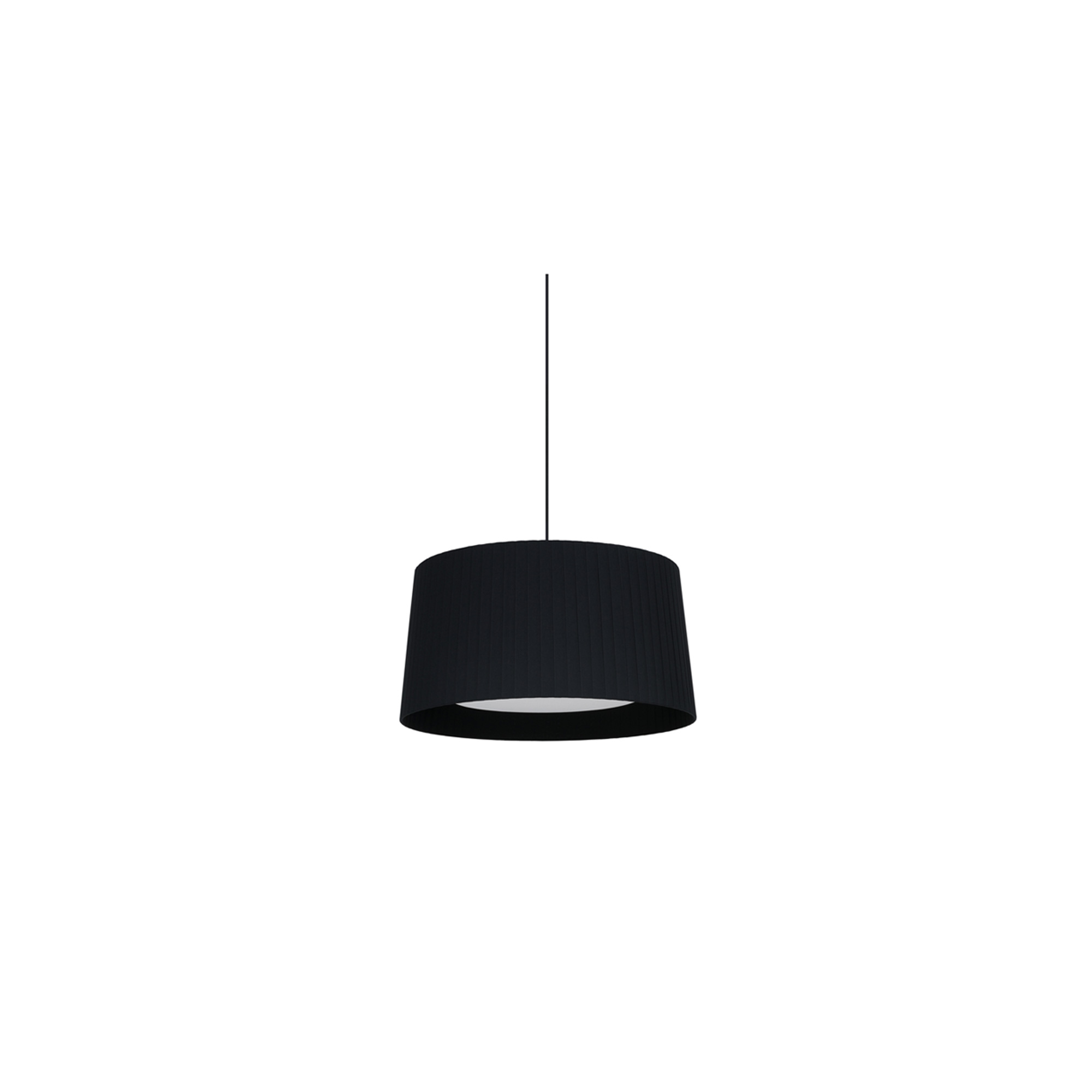 GT6 Pendant Lamp - The GT5 and GT6 are ideal for average-size spaces or domestic use. The pendant lamps feature beautiful ribbon shades that add elegance and a touch of colour to a neutral room. This is a colourful family that varies in size without altering its essence, creating rich luminous tones. With the light on, the shade provides a warm light, rich in nuances. Light source is not included, it is available to purchase separately. Please enquire for it. Satin nickel and textured black finish are not available with white cable.  | Matter of Stuff