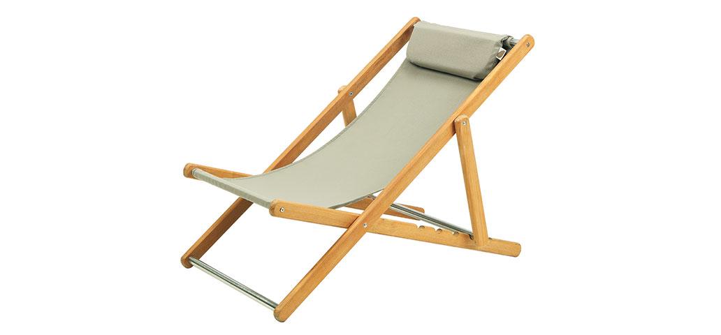 Elle Teak Deck Chair