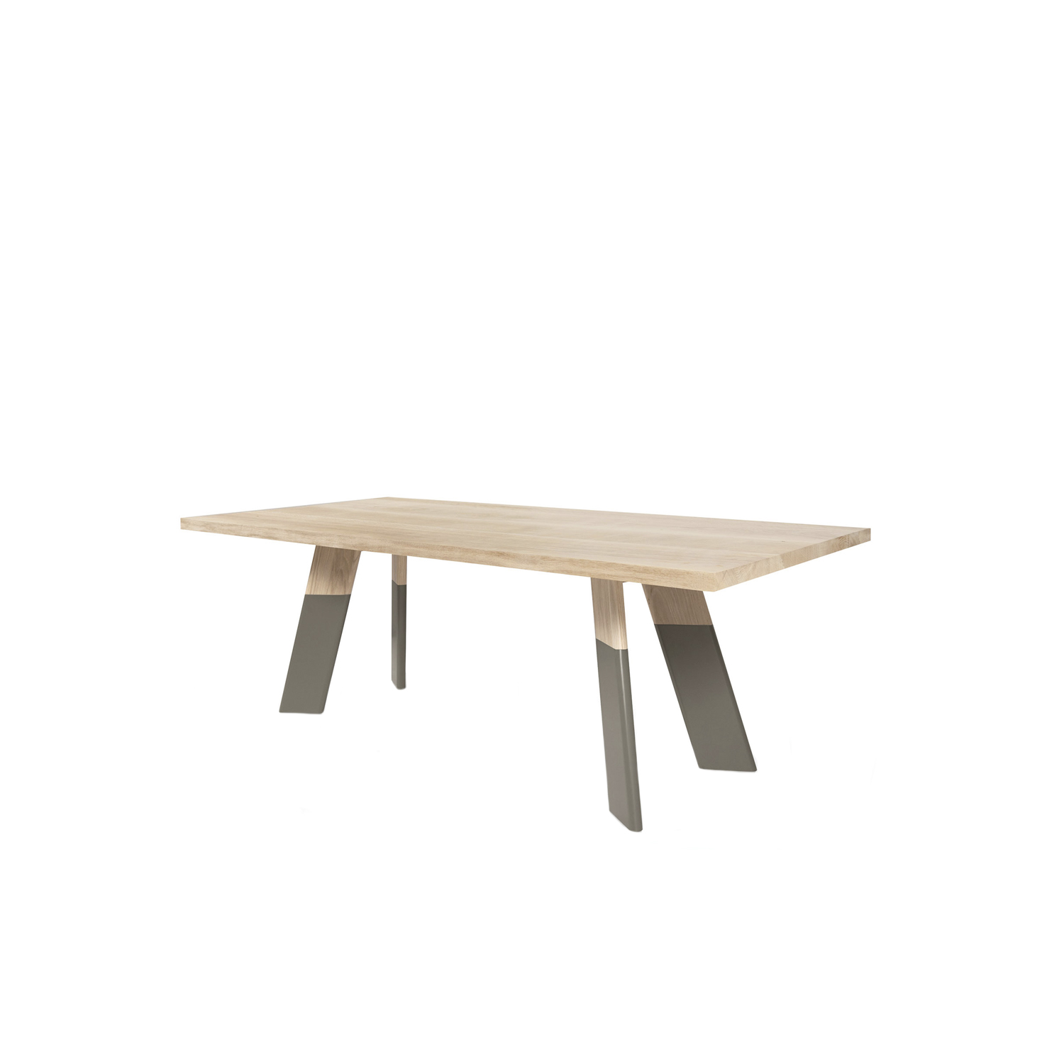 Alhambra 001 B Dining Table - Table in various sizes with shaped rectangular top with a thin edge, legs in two sections or unique section, lacquered or solid wood.