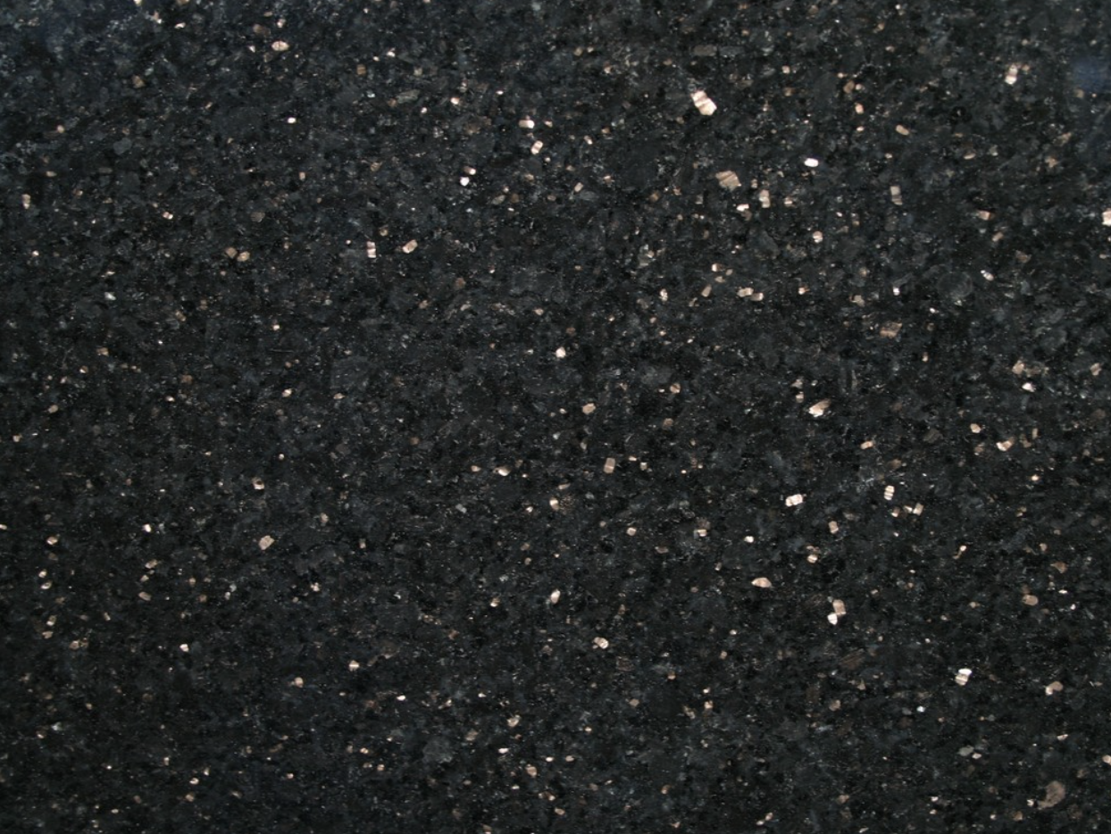 Black Galaxy - Black Galaxy granite originates from India. This stone is very popular among buyers for its minimalistic look. This type of granite is suitable for both interior and exterior design projects.  | Matter of Stuff