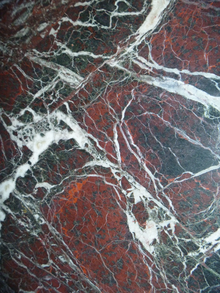 "Rosso Lepanto Marble - Rosso Lepant is a natural red/purple stone with white inclusions. This rock is very elegant and refined, perfect for indoor paving. <ul class=""dati-generali"">  	<li class=""field-carico_di_rottura_a_compressione""><span class=""label-det"">Compression tensile strength </span><span class=""value-det"">1377 kg/cm²</span></li>  	<li class=""field-carico_di_rottura_dopo_cicli_gelivita""><span class=""label-det"">Tensile strength after freeze-thaw cycles </span><span class=""value-det"">1208 kg/cm²</span></li>  	<li class=""field-carico_di_rottura_unitario_a_flessione""><span class=""label-det"">Unitary modulus of bending tensile strength </span><span class=""value-det"">98 kg/cm²</span></li>  	<li class=""field-coefficiente_dilatazione_termica""><span class=""label-det"">Heat expansion coefficient </span><span class=""value-det"">0,0053 mm/m°C</span></li>  	<li class=""field-coefficiente_imbibizione_acqua""><span class=""label-det"">Water imbibition coefficient </span><span class=""value-det"">0,005700</span></li>  	<li class=""field-resistenza_all_urto""><span class=""label-det"">Impact strength </span><span class=""value-det"">31 cm</span></li>  	<li class=""field-peso_per_unita_di_volume""><span class=""label-det"">Mass by unit of volume </span><span class=""value-det"">2696 kg/m³</span></li> </ul> 