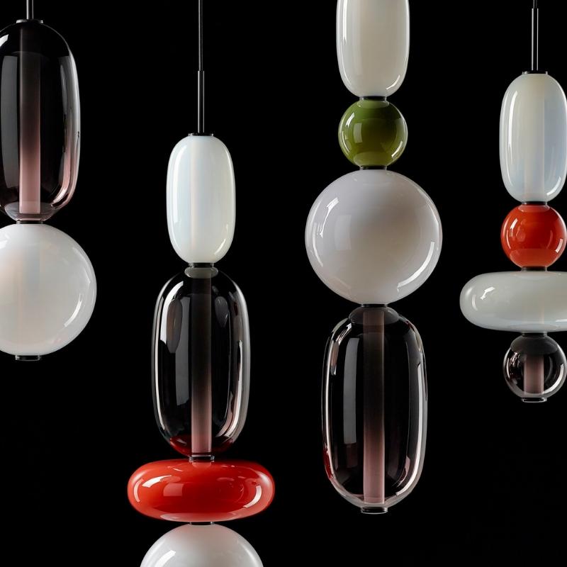 Pebbles Long Pendant Lamp
