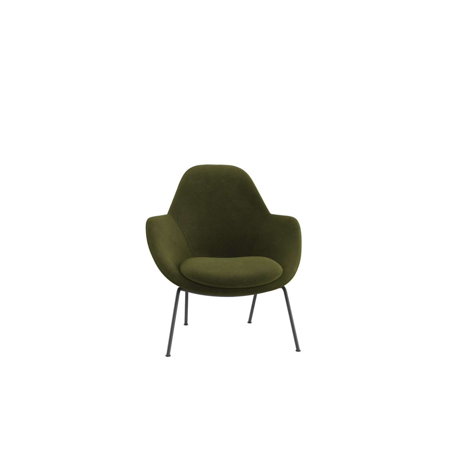 Dot Lounge Armchair - Dot armchair embraces the symbolic values of the ideal home and turns them into soft curves, embracing geometries, tactile feelings and simple lines.‎ Its project is characterized by a unique and continuous shape, with a curved backrest which gently becomes a structural element, while the padding gives stability and comfort to the seat, raised by a contrasting basement shape, available in wood and metal.‎
