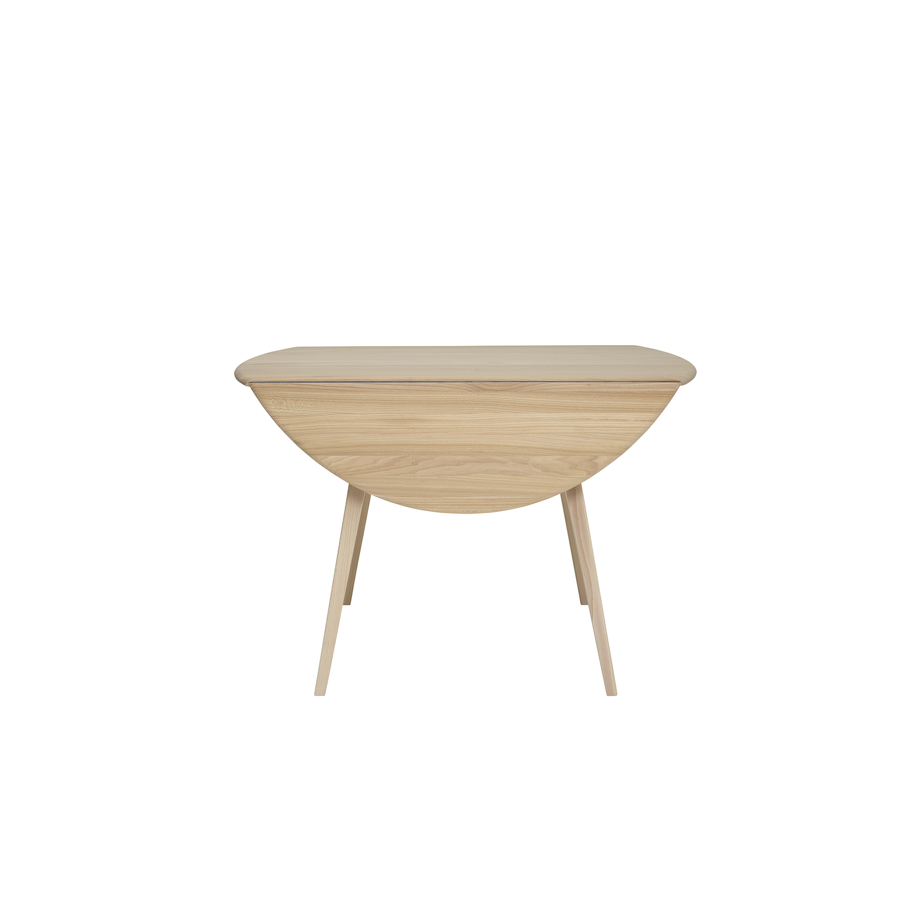 Originals Drop Leaf Dining Table - <p>The Ercol Originals are pieces of timeless and classic design that never date or show their age. It is furniture that is as relevant and as functional now as it was when it was created in the 1950s and 1960s. This furniture was designed by Ercol's founder, Lucian Ercolani, who drew for his inspiration on the time-proven local design and craft in the Chiltern Hills around where he lived and built his first factory in 1920 in High Wycombe. Using the strength of beech and the beauty of elm he carried this definition on into a huge variety of dining, kitchen, and school chairs and then extended the idiom into the low easy chair range epitomised by the 206 armchair and the studio couch. The beauty of the colour and the grain of the elm took Lucian on to use elm for the tables and cabinets of the Originals and the following Windsor range. The drop leaf table dining table is a reintroduction of a 50&#039;s Original design with its splayed, tapered legs and a solid Ash top. The classic design creates a simple but contemporary look. This table has the added space-saving flexibility of drop leaves on either side when the table is not in use, making it perfect for smaller spaces. When fully opened it seats 4 with ease, and a cosy 6  can even squeeze around it. The drop leaf table can be finished in a variety of wood finishes and paint colours to suit your individual style and décor.  An accessible piece of classic design for today's lifestyle.</p>    Matter of Stuff