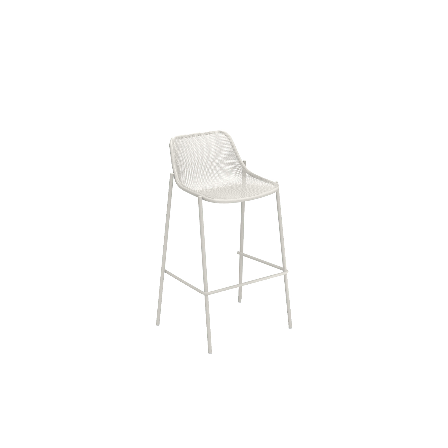 Round Barstool - Set of 2 - This set of 2 barstools looks perfect either alone or with another set of two to make four. They are made of stainless steel and come in various colour combinations so you can choose the best finish to suit your space. Round is a collection defined by its search for structural balance and soft lines, an interpretation of outdoor space that conveys stylistic but essential refinement. Clean and basic shapes mark the range elements that make up this collection.  | Matter of Stuff