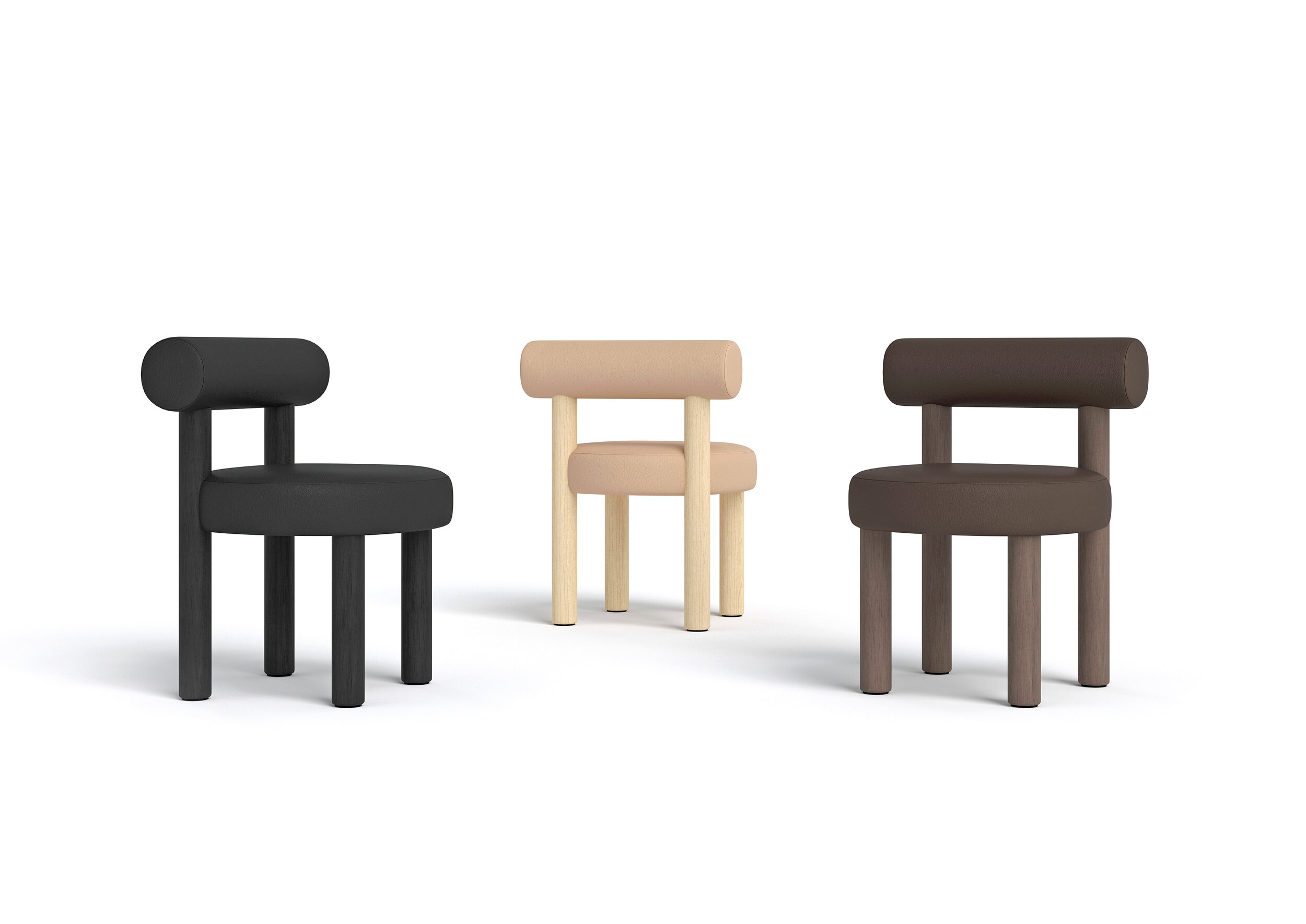 """Chair Gropius CS2 - New NOOM furniture collection is dedicated to the 100th anniversary of the founding of the Bauhaus School in Germany. Ideas of functionalism and conciseness, the combination of craft and art, buildings and objects formed by a composition of simple geometric shapes, are still relevant.   NOOM furniture is a tribute to the great thinkers who formed the modernist principles and brought them to life. The designer has """"gathered"""" the shape of this chair from the cylinders.  All products in the collection are called by names of famous modernist artists and architects.   Matter of Stuff"""