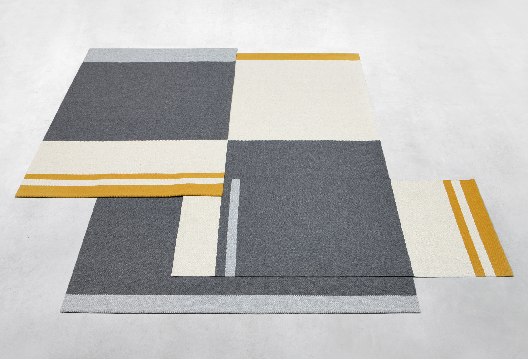 Fran Medium Rug - <p>The Alfred Collection consists of five series (Fran, Frenzy, Lucy, Ivy, Billie) of handwoven minimalist carpets made by Belgian textile designers Marie Mees and Athérine Biasino. Firstly, all carpets are handwoven with a mixture of two top-shelf wools from New Zealand and Portugal, the first offering the right softness and look, the other adding strength. Secondly, the designers envision a minimalist aesthetic that resonates timelessness and not trendiness. In fact, hyped colours are fiercely avoided. By offering highly durable and supremely sober carpets, the Alfred Collection honours the archetype of the carpet, pure in form and in function, making it the perfect textile for the minimalist interior of the design admirer. Composition of the carpet is a mixture of Merino, New Zealand and Beira Alta (Portuguese wool).</p>  | Matter of Stuff