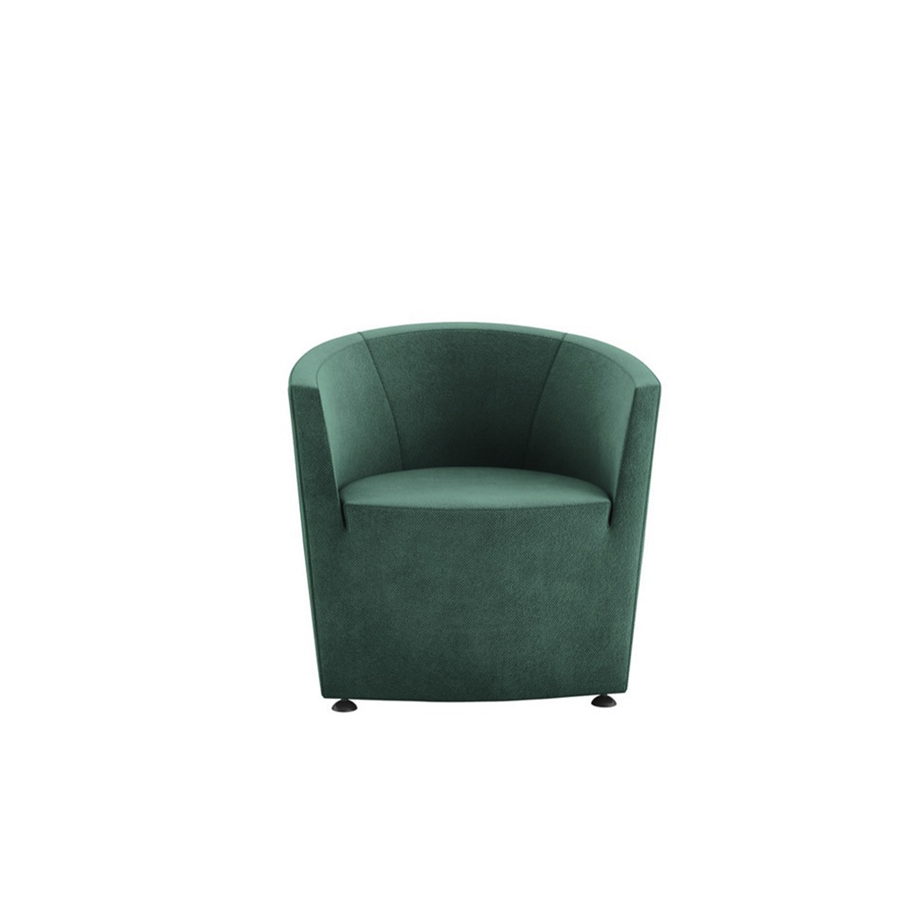 Parentesi Lounge Armchair - Its name means parenthesis: a simple, effective description of this collection, with its clean, essential, curved lines.‎ The armchair revisits a classic, cosy shape with the versatility to fit into any setting or composition, while the sofa is conceived as a complement to the chair.‎ Available in fully upholstered or aluminium backrest.