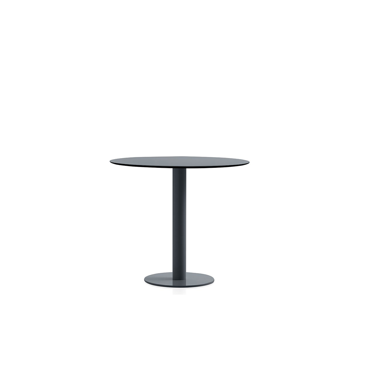 Mona Coffee Table - This is our low round table from the Mona series, a design with a single-leg structure to which you can give a lot of different uses. It can work as a coffee table or as an auxiliary table, depending on the tabletop diameter you select. There are three sizes available: 70, 80 and 90 cm. Aside from its design, which works well with many styles, a big part of its appeal is its multiple colour options.  Although it is specially designed to be used outdoors, it can also be used in indoor environments. | Matter of Stuff