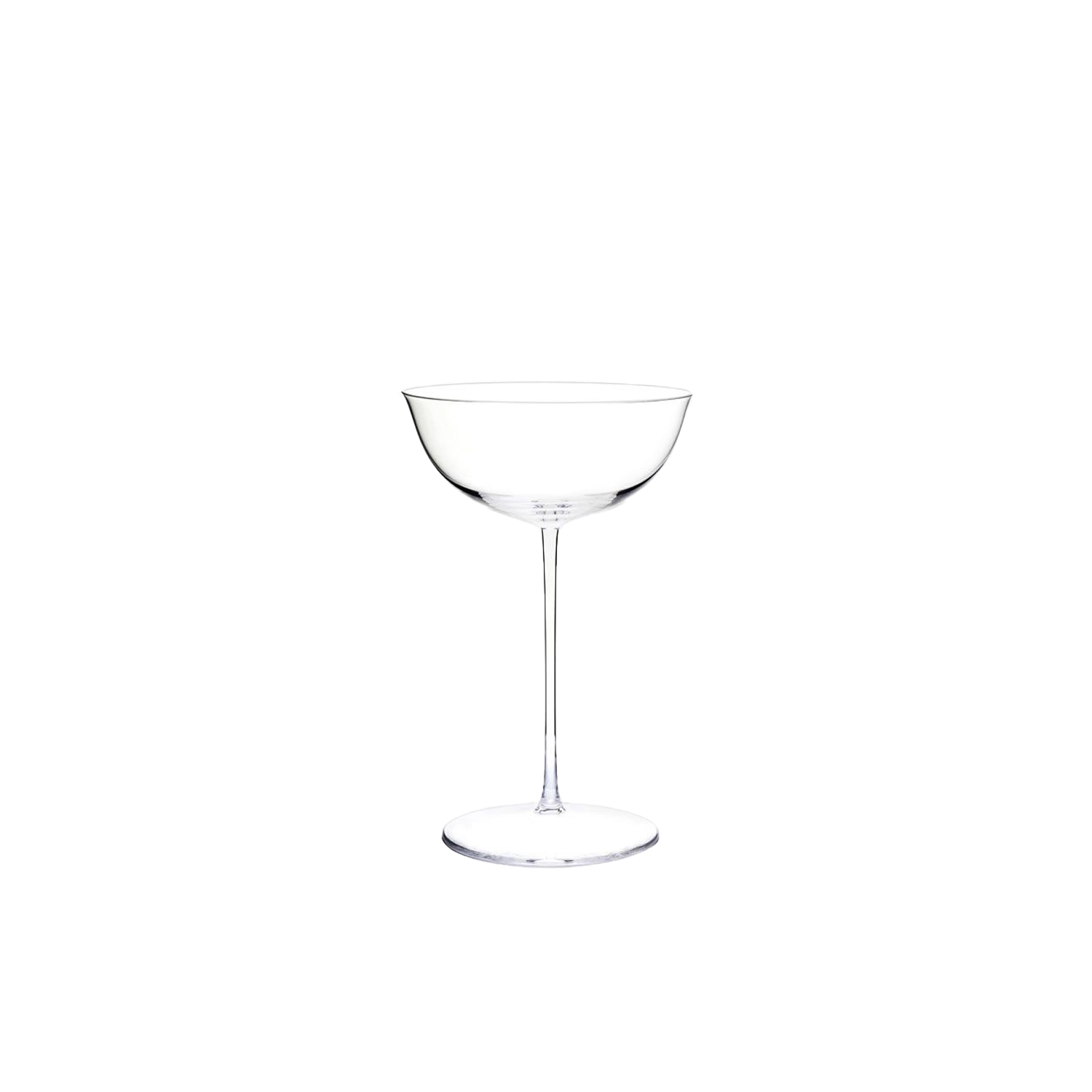 Drinking Set No.238 Champagne Cup - Set of 6 - The perfectly flowing contours of these original Hoffmann shapes make this muslin glass service a classic. Josef Hoffmann designed the elegantly balanced glasses for Lobmeyr as early as 1917. The material, extremely delicate muslin glass, hand-blown in wooden shapes, gives the series its elegance. | Matter of Stuff