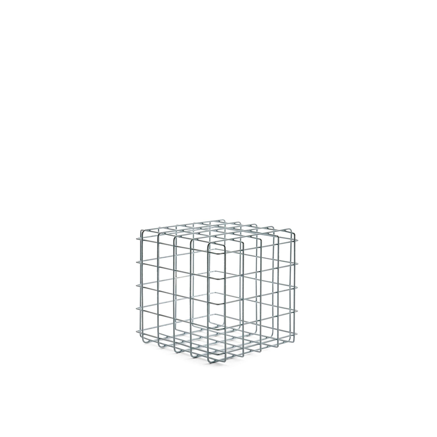 Leyva Coffee Table - The Leyva table is made of painted iron rods welded into a grille of uniform squares. Sophisticated and non-intrusive, Leyva decorates the living room with a light, contemporary touch. Available in black or white.  Materials: Structure in iron rod with diameter 6 mm painted and welded into a grille of regular squares approximately 8 x 8 cm. | Matter of Stuff