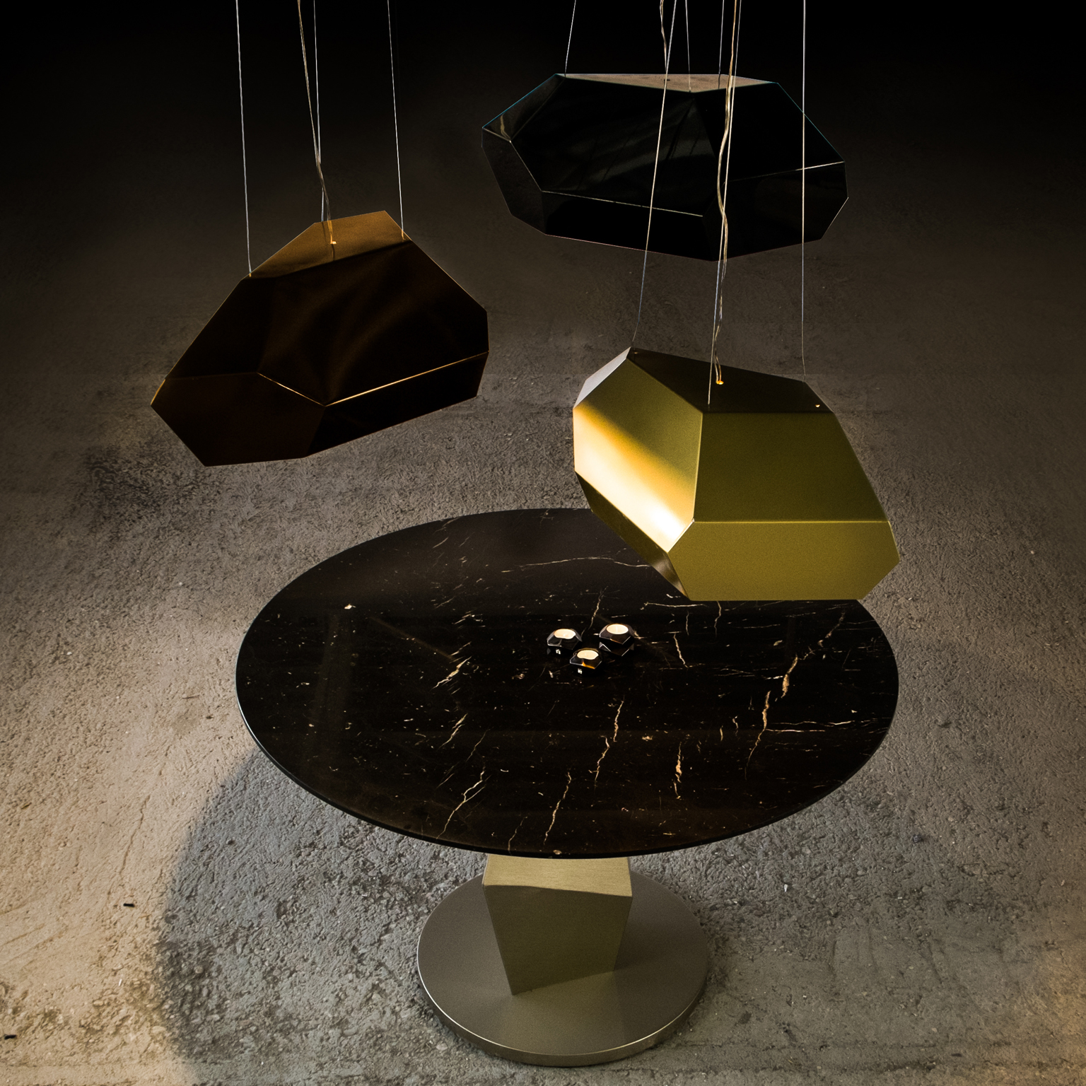 Asymmetric Lights - <p>Asymmetric light is a non symmetric metal lighting fixture with unique different finishes, thus creating series of pendant lamps that have a different look from each view.</p>  | Matter of Stuff