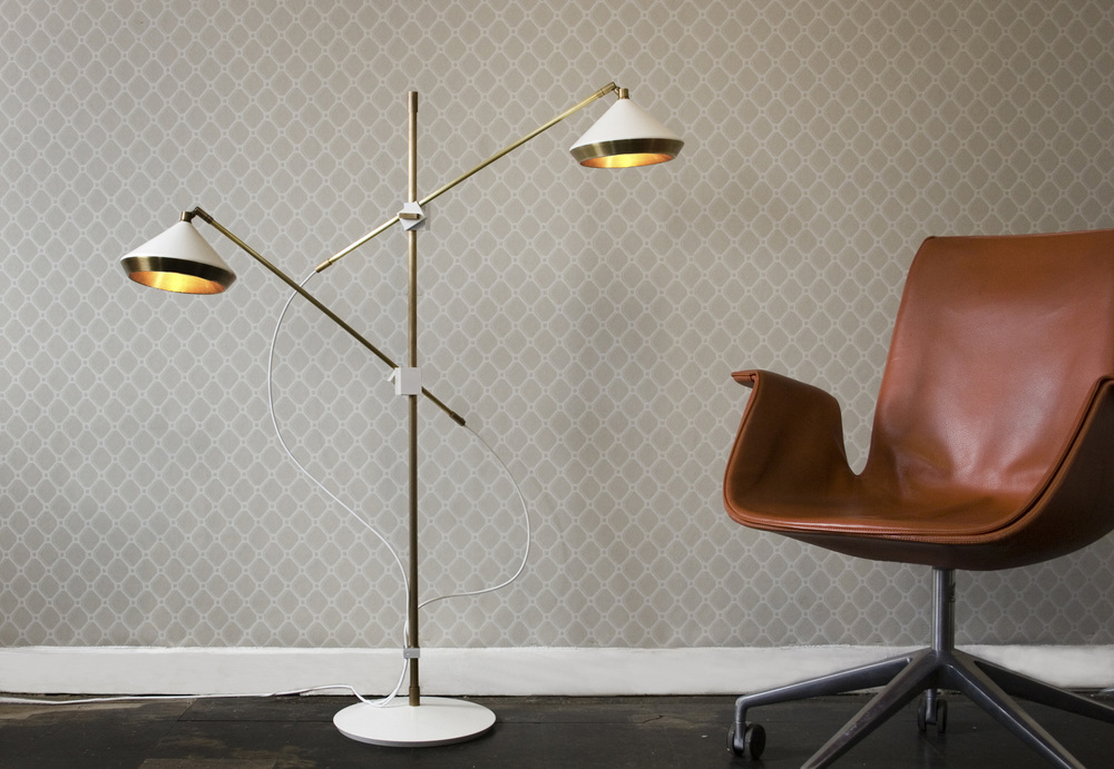 Shear Floor Lamp - <p><span>The Shear floor lamp is both practical and striking with its two arms that can be rotated, tilted and extended so the adjustable shade can be positioned exactly where it is required </p> <p></span></p>  | Matter of Stuff