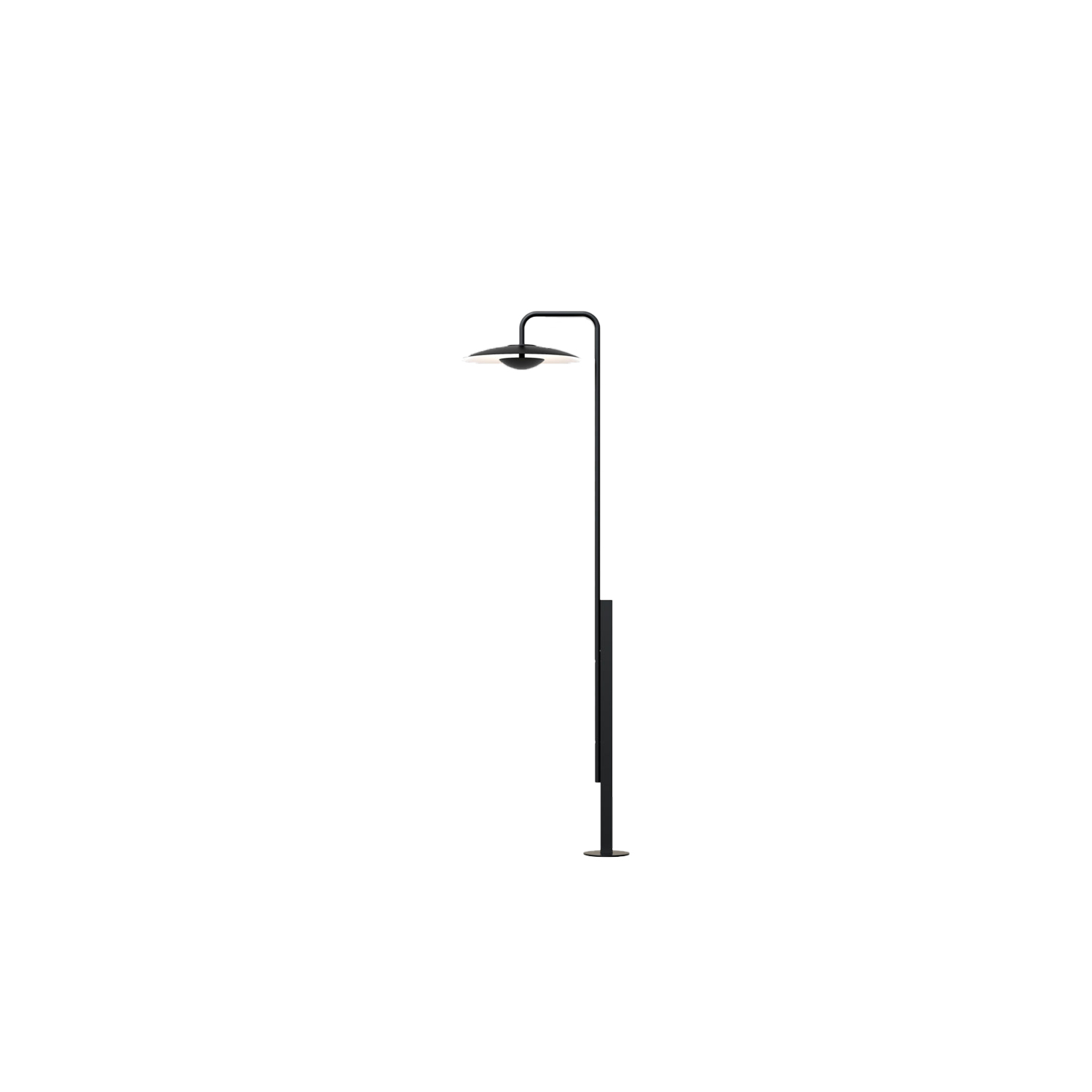 Ginger 60/298 Outdoor Floor Lamp - The Ginger collection is moving outdoors, with wall sconces that can be installed individually or in a cluster, a new 15 cm sconce —perfect for passageways and small outdoor areas—, a lamppost and small floor lamps. The lamppost—at almost 3 meters high—is a design of function, a centrepiece of our new outdoor collection, on sober black, which discreetly illuminates your garden or the entryway to your outdoor spac | Matter of Stuff
