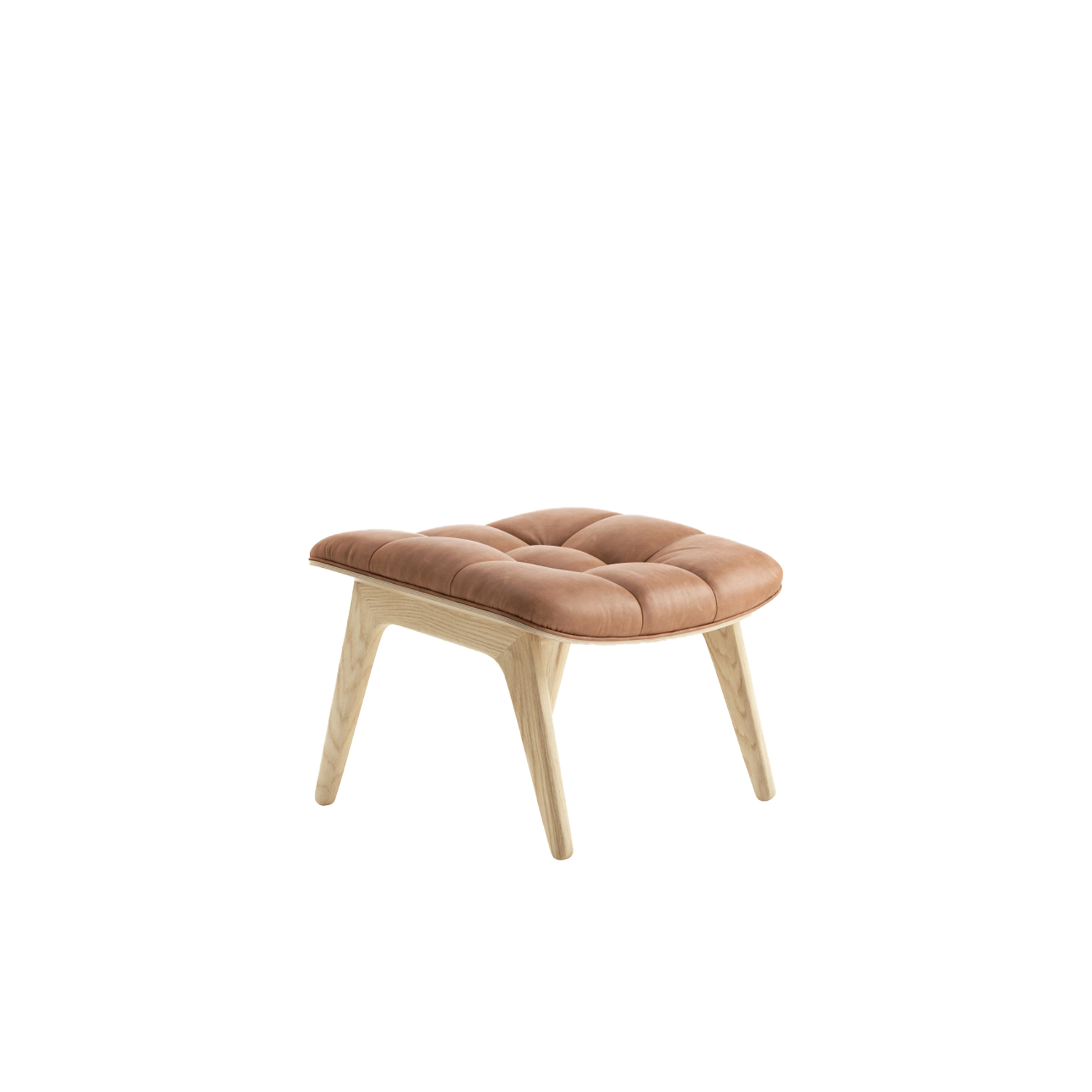 Mammoth Ottoman - The Mammoth Ottoman is handcrafted with a solid oak frame. It's designed to go together with the Mammoth Chair and has matching upholstery. The Mammoth Ottoman seat is formed via the same compression mould as with the seat and back of the Mammoth Chair. 