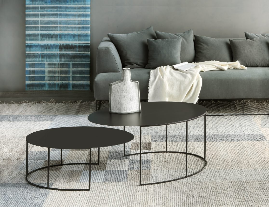 Slim Irony Oval Side Tables