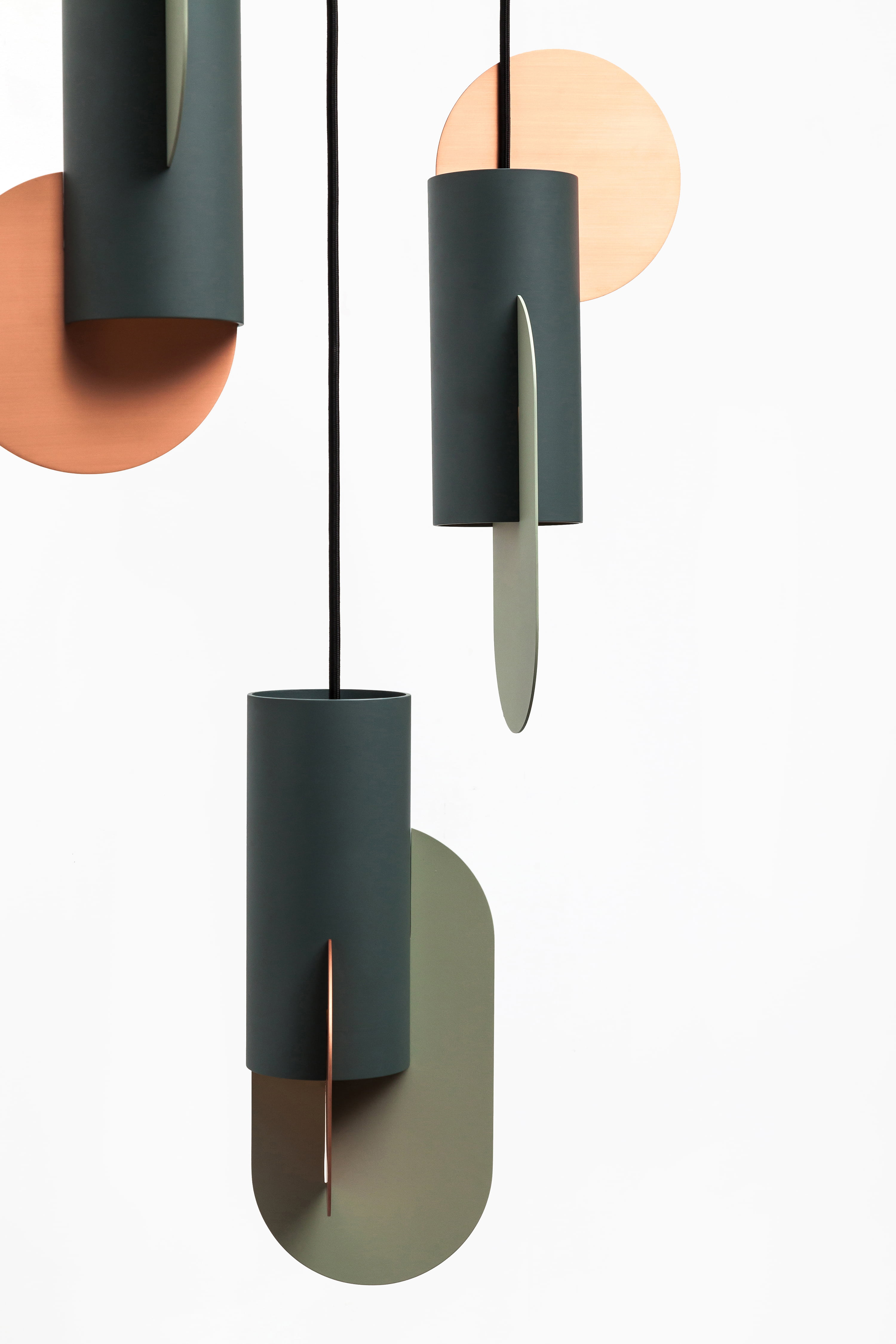"""Suprematic Three Lamp CS1 - <p>""""Suprematic"""" collection of the lamps, inspired by the geometric works of Kazimir Malevich. The collection inspired by the geometric works of the great Suprematist Kazimir Malevich. Suprematism is a modernist movement in the art of the early twentieth century, focused on the basic geometric forms, such as circles, squares, lines and rectangles. The geometric structure of the lamps will always look like small art objects in your house.</p> <p>SPECIFICATION<br /> Electrification: EU version: 2 × LED 10W 
