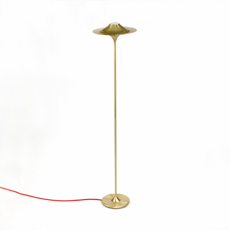 Skew Brass Floor Lamp - A nostalgic design echoing sounds of the past, the Intueri Light Turbaya Table/Wall Lamp contemporizes the look of a gramophone. The Turbaya has a shape like a gramophone and it can remind others about the old days when this was the only thing that we could listen music on. Turbaya is a multi-function light. Wall light, table light, two functions in one product.  | Matter of Stuff