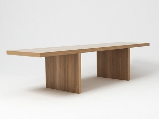 Millenium Hope Table - The Millenium Hope table, by designer Claudio Silvestrin, is a monolithic union of honeycombed fir with medium density conglomerate fibre.  This table, composed of vertical elements covered with a horizontal top of the same height and width, is available with a natural oak, black-stained or wengé-stained finish. The Millenium Hope table pairs with the matching bench, which was designed with the same rigeur and intention.  | Matter of Stuff