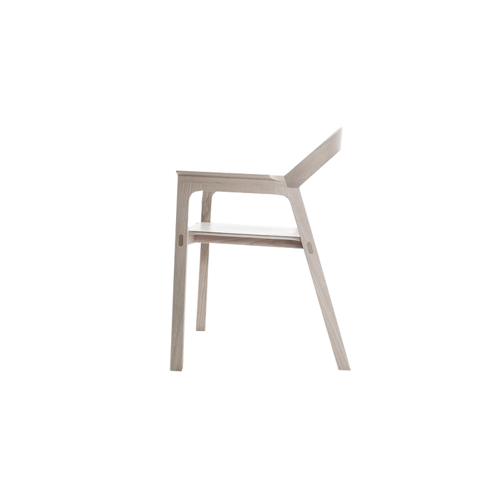 """Diade Armchair - Chair with ash structure and leather seat. New shapes and interpretations of the substance get married in the purity of the lines of the armchair """"Diade"""": a unique sign, a clever match of curves and design which elegantly characterise the environment where it is located.  