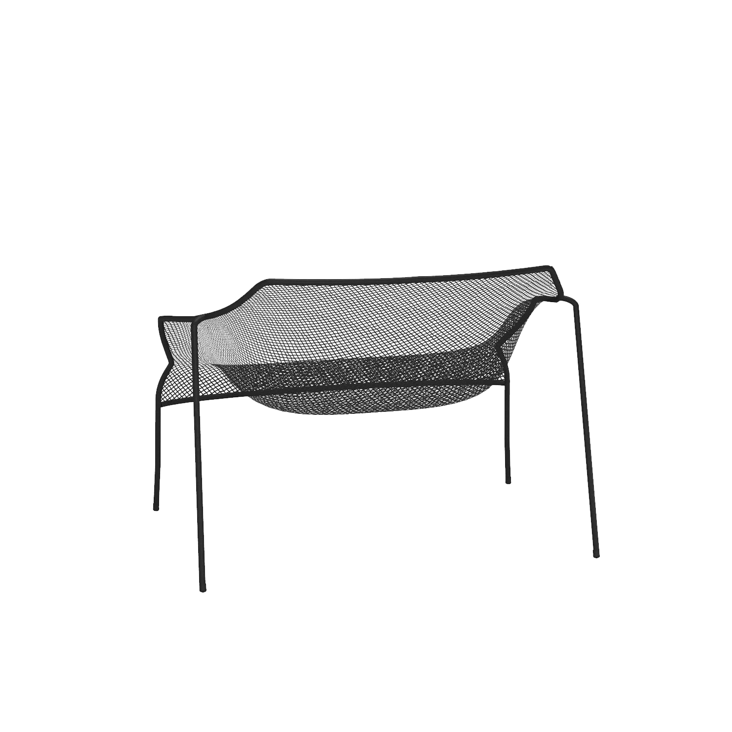 Heaven Lounge Chair - Set of 2 - <p>The idea underlying the Heaven project is that of lightness derived from forms emerging from hollow spaces bordered by interweaving lines. The thin, woven steel frame is the distinctive feature of a collection marked by well-proportioned lines and overall harmony. Steel chairs paired with transparent glass tops lighten the table surfaces, lending them an intangible quality.</p>  | Matter of Stuff