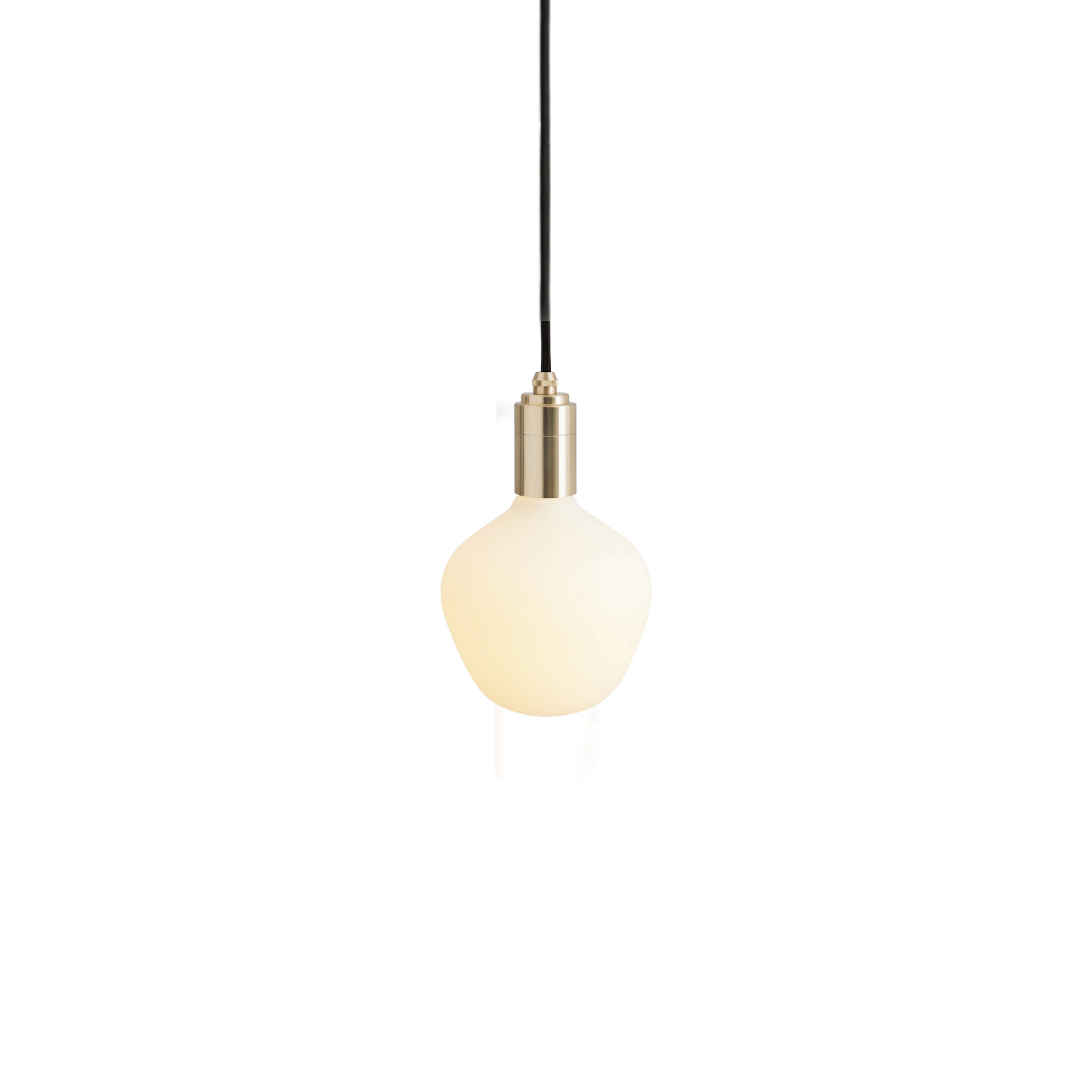 Enno Pendant Light - The Enno Pendant Light combines the strong, defined form of the Enno bulb with the minimal Tala pendant in Brass, Graphite, Oak or Walnut, creating a ready-made light fixture for any interior space.  With its characteristic trapezoid shape, the Enno bulb has a matte-white glass finish and high lumen output, making it suitable to illuminate both large and small spaces.  Available with the Brass, Graphite, Oak or Walnut pendant, this is a beautiful and decorative lighting fixture all in one.  Connect to one of our recommended dimmers for maximum performance.  Features – Dimmable – Strong geometric shape – Energy-efficient, LED technology – Matte white glass finish – Available with a Brass, Graphite, Oak or Walnut pendant – 3 metre length cord for versatility | Matter of Stuff