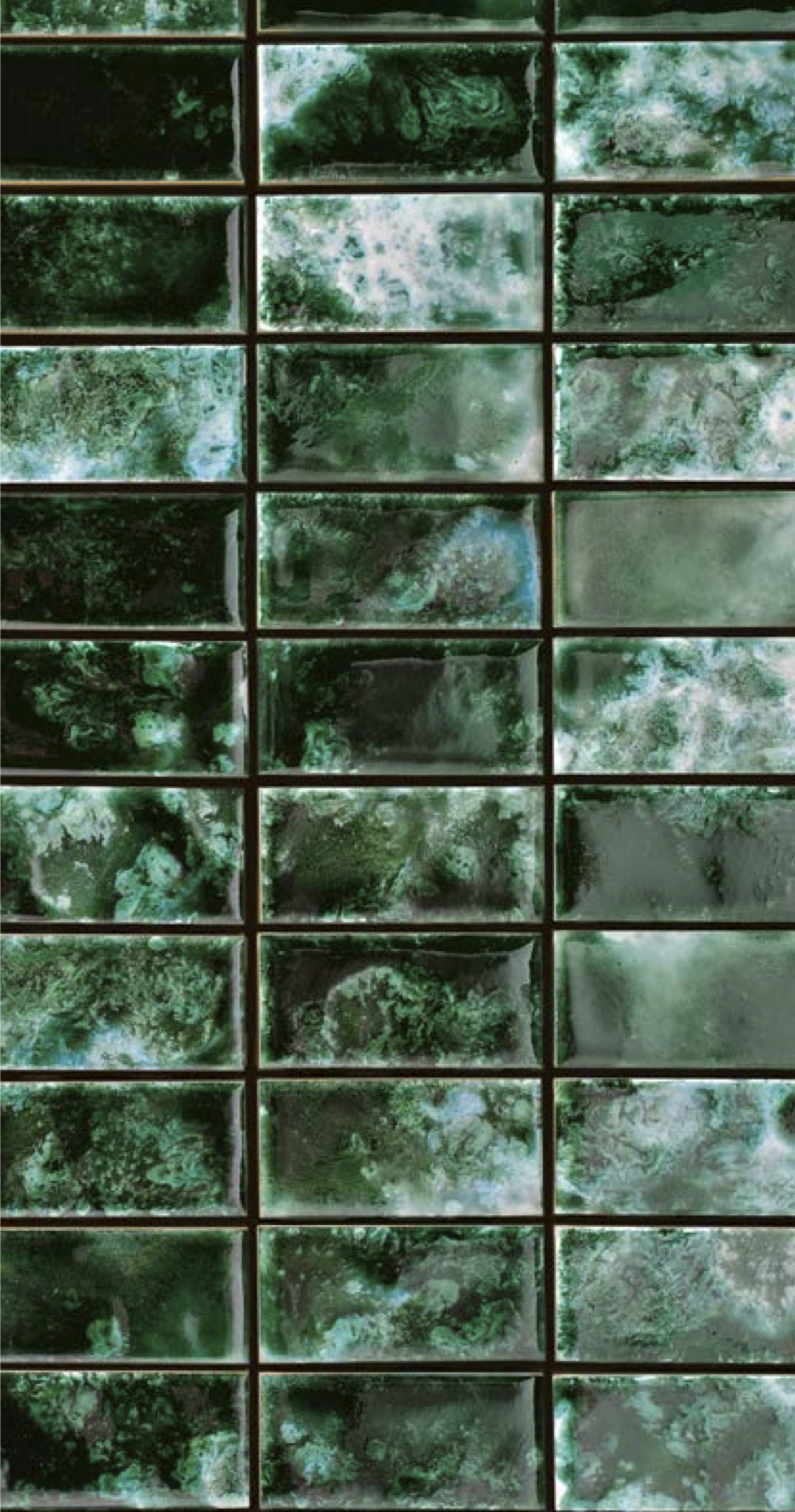 Rectangular Tiles Green