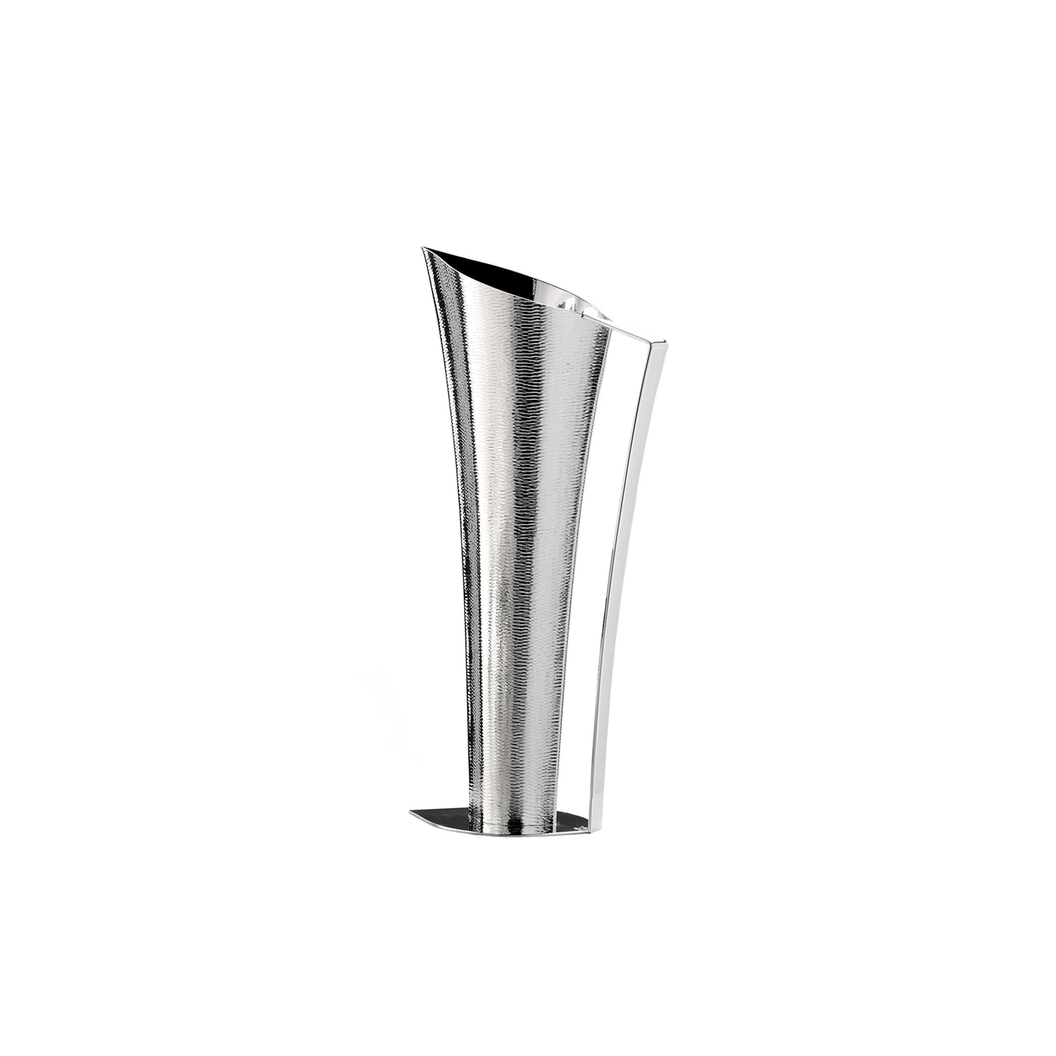 Ermes Pitcher - Sculptural pitcher crafted in a silver-plated alloy with a stunning texture.   Matter of Stuff