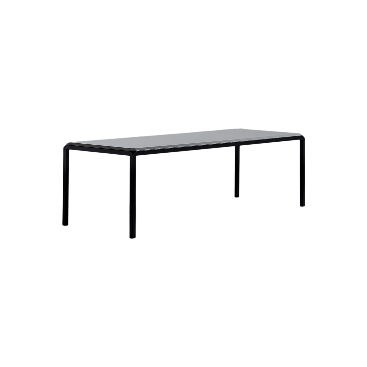 Bebop Dining Table - The Bebop table stands out for the attention to detail, quality workmanship, and the contrasting industrial iron frame and fine marble or lacquered top. It has a steel structure, with a top in marble or lacquered wood featuring four rounded corners that give boldness to details. The larger table has top options only in Scratchproof Lacquered MDF, Bianco Michelangelo Marble and Calacatta Oro Marble. A range of materials, colours and finishes are available in a number of combinations. 