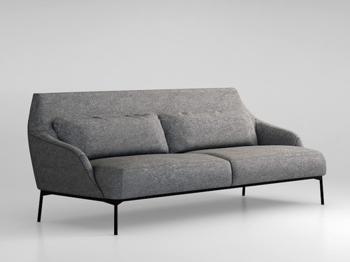 Lima Sofa - A system consisting of sofas and armchairs in different sizes, with a markedly sleek shape to receive the body nicely. Extra comfort is given by the large lumbar supporting cushion on the ample seat. Elegantly thin are the feet at the base of the frame, adding a touch of dynamism to the cosiness.  Cushions are included in the price.   Matter of Stuff