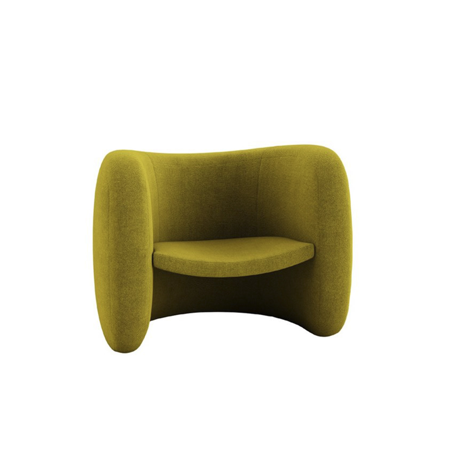 Lagoa Lounge Armchair - Lagoa is an armchair with a soft and rounded volume that houses a suspended seat characterised by a distinct contrast, both in thickness and colour.‎ The extremities of this seat are inserted into the hips of the structure sliding into an all-encompassing embrace without the solution of continuity.‎ This piece is the epitome of brilliant creativity that takes inspiration from the softness of the local tradition – with a completely visionary spirit.‎ | Matter of Stuff