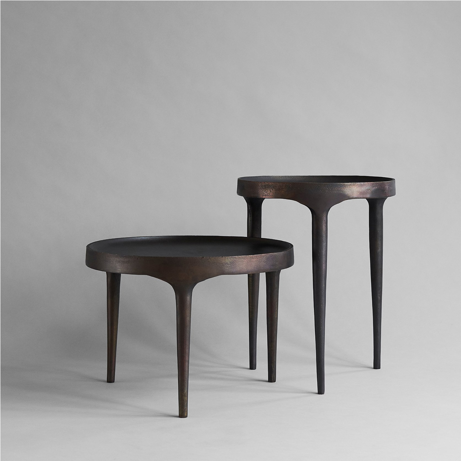 Phantom Low Coffee Table - The Phantom Coffee Table Low in Burn Antique has a modern profile with a sophisticated and subtle design embedded in its expression    Matter of Stuff