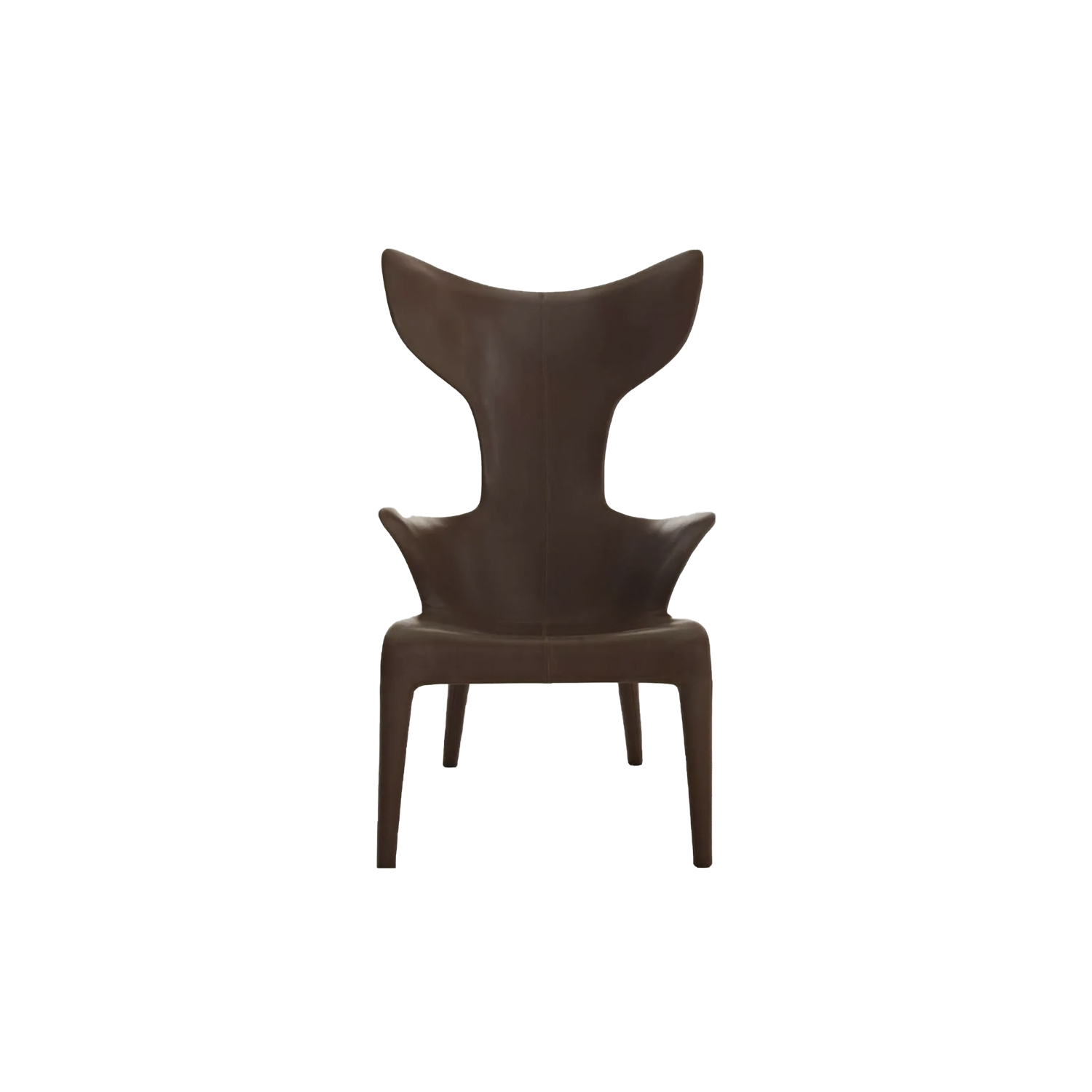 Lou Read Armchair - An armchair/character, with an organic outline, perhaps anthropomorphous, conceived with leather directly fixed on a fiberglass skeleton. The armchair is entirely covered in leather and hand-stitched. The unexpected comfort is given by its perfect ergonomics. | Matter of Stuff