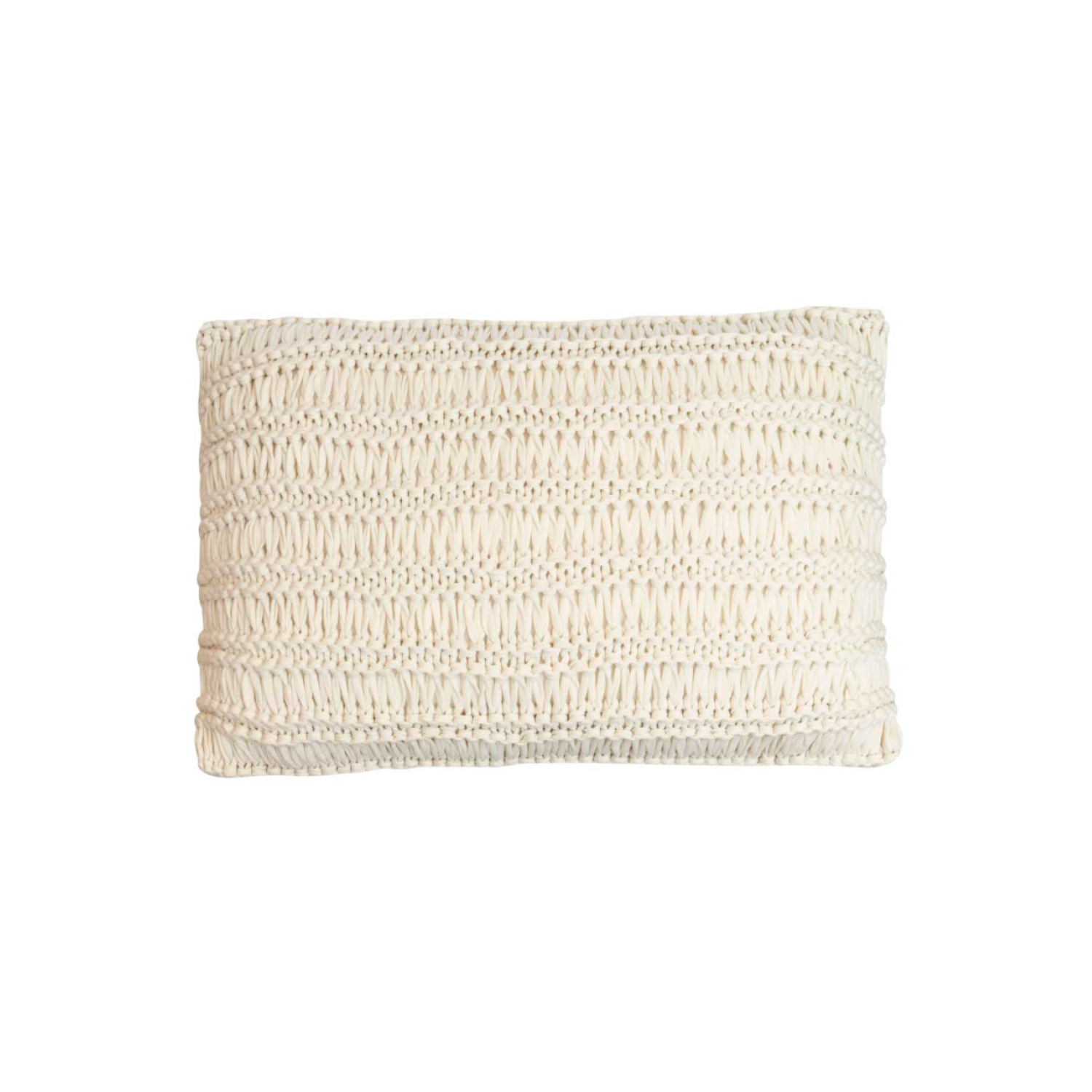 Antwerp Knitted Cotton Cushion Large - The Antwerp Line is carefully knitted within a trained community of women that found in their craft a way to provide for their families, each one of these cushions and throws is unique.  Elisa Atheniense Home soft indoors collection is made with natural cotton fibres, eco-friendly, handwoven or elaborated using traditional hand-loom techniques. The use of organic materials brings softness and comfort to the space. This collection combines their mission for responsible sourcing and manufacturing.  The hand woven cotton, washable cushion cover is made in Brazil and the inner cushion is made in the UK. All cushions come with Hollow Fibre filling. European Duck Feathers are optional upon request at an extra cost. Please enquire for more information and see colour chart for reference.   | Matter of Stuff