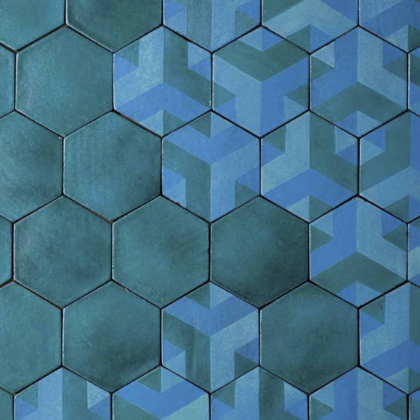 Hexagon Tiles Decoration on Turquoise -  | Matter of Stuff