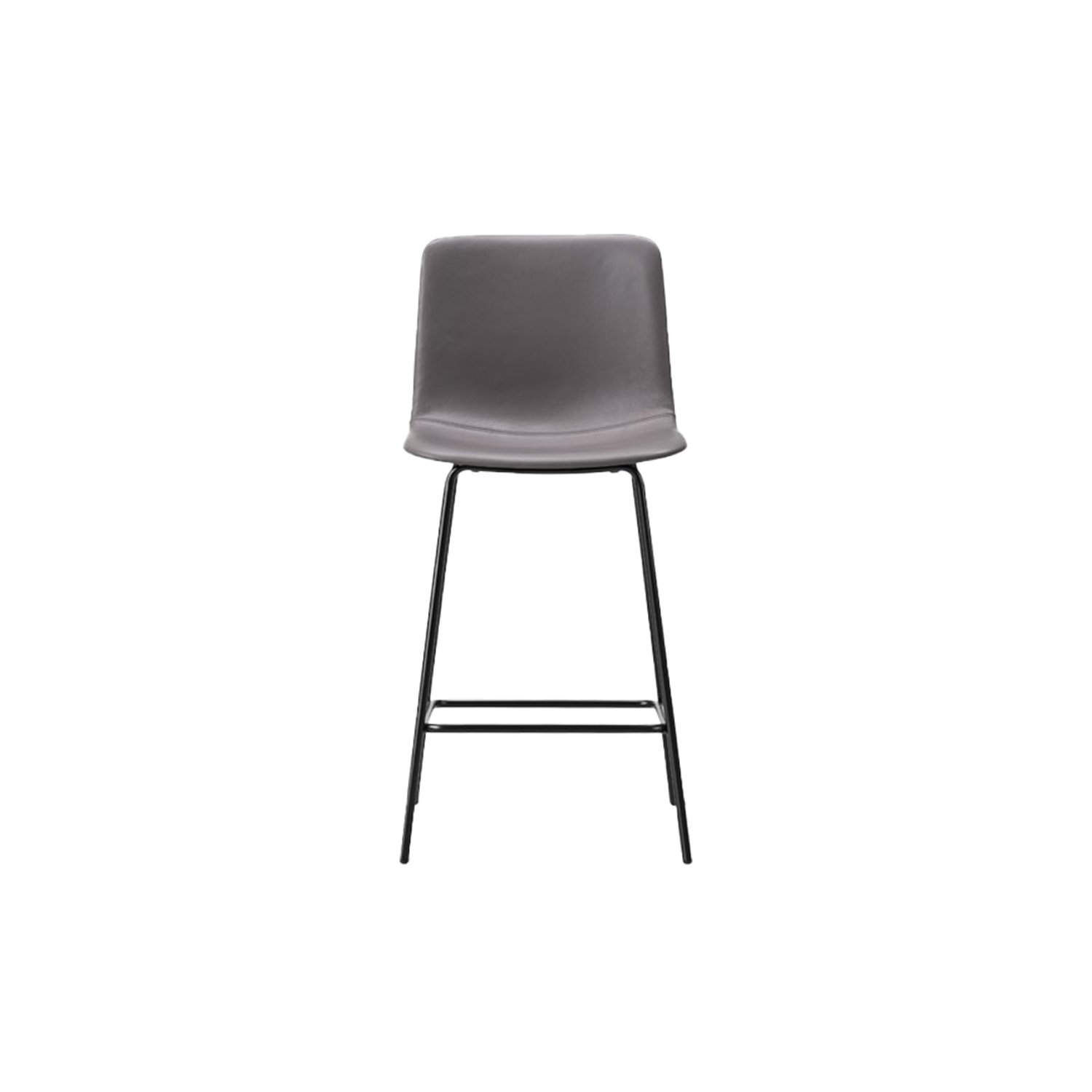 Pato 4 Leg Barstool Fully Upholstered - Pato is a carefully crafted multipurpose chair in eco-friendly polypropylene that can be used outdoors. The chair is available with a range of optional features including coupling. The chair can be tuned from basic to exclusive with optional upholstery.  Pato is a prime example of our focus on sustainability and protecting the environment, reflected in a chair that's 100% renewable and recyclable. All components can be incorporated into future furniture production, thus contributing to a circular economy by minimising the use of materials, resources, waste and pollution.   Merging traditional production methods with cutting-edge technology, Pato is a human-centric, highly versatile series of multi-purpose functional furniture that draws on our in-depth experience with materials, immaculate detailing and heritage of fine craftsmanship. Allowing us to apply our high standards of texture, finish and carpentry techniques to an array of materials in addition to wood for products aimed at a mass market.   With its clean lines and curves, Pato echoes the ethos of Danish-Icelandic design duo Welling/Ludvik. Demonstrating their belief that good design has the ability to be interesting, even when reduced to its most simple form. Where anything extraneous is eliminated and every detail has a purpose.   Together we spent nearly three years developing the shell structure to have a soft surface that's also wear and tear resistant. Enhancing the chair's ability to optimally conform to the user's body is a subtle beveled edge. A technique from classic cabinetmaking, which gives the chair a sense of handcrafted finesse. Each Pato is detailed and finished by hand by our highly skilled crafts people, who refine the beveled edge and the silky, resilient surface. Setting a new standard for the execution and finish of polypropylene.   Since the success of its initial launch, we've expanded Pato into an extensive collection of variants, featuring ar