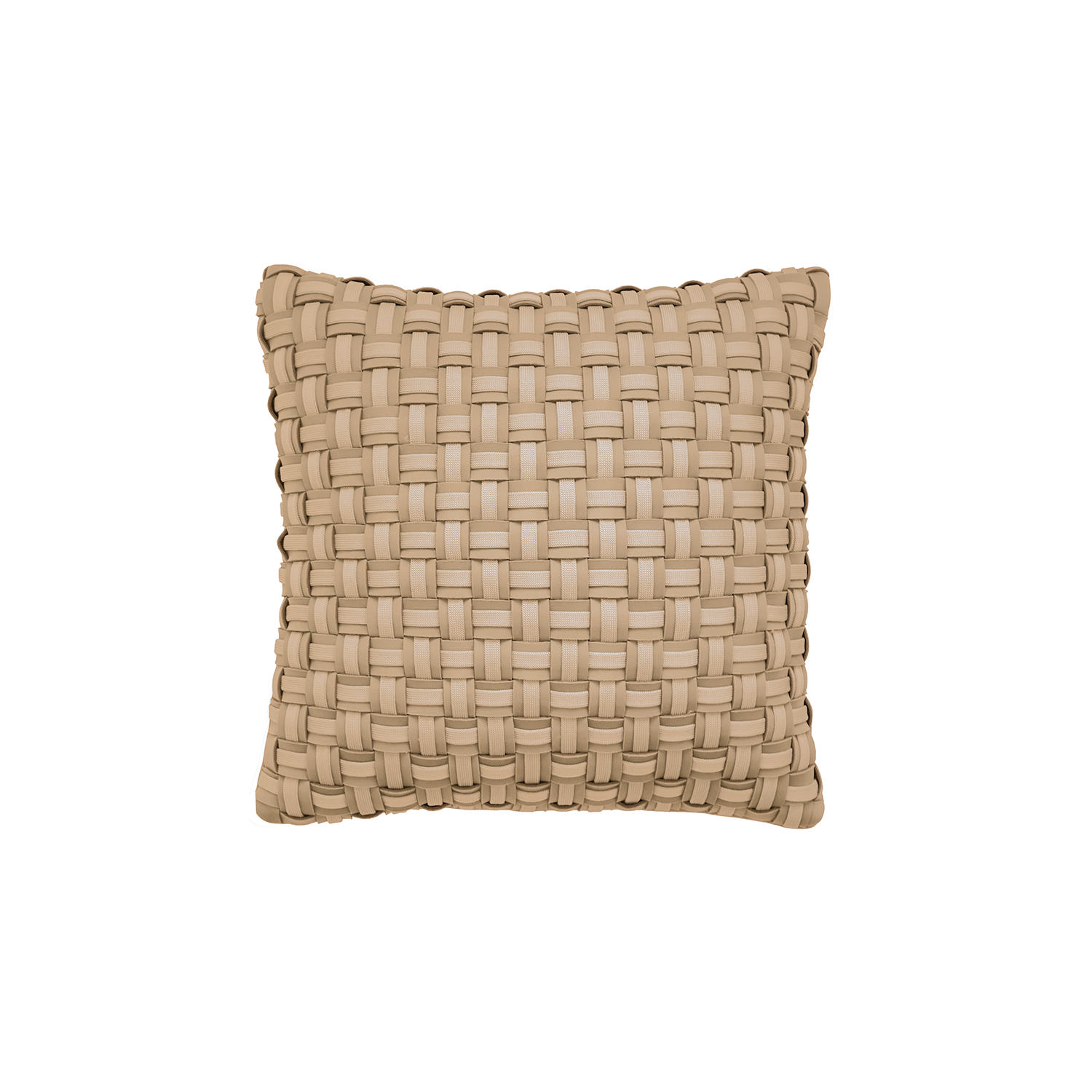 Mosaico Duplo Neo Cushion Square - The Mosaico Duplo Neo Cushion is carefully knitted within a trained community of women that found in their craft a way to provide for their families. The outdoor collection is made with synthetic fibres, resistant to weather exposure. The use of neoprene brings comfort and technology to the cushions.  The front panel is in neoprene combined with hand woven nautical cord, made in Brazil.  The inner cushion is in Hollow Fibre, made in the UK.  Please enquire for more information and see colour chart for reference.  | Matter of Stuff