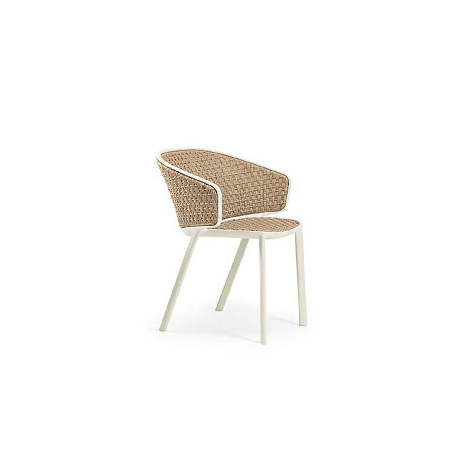 Pluvia Natwick Dining Armchair - Conceived and designed for outdoors, its harmonious lines, refined design and attention to details mean that Pluvia is also perfect for indoors and will become the ideal armchair to enhance the living area. Elegance and simplicity, together with design thinking that unites aesthetics and versatility, make Pluvia an armchair that 'interprets' the mood of its settings, and enhancing addition to any kind of open-air living space and a surprising one for interiors.  The rain cover is available at extra cost. Please enquire for more information.   Matter of Stuff