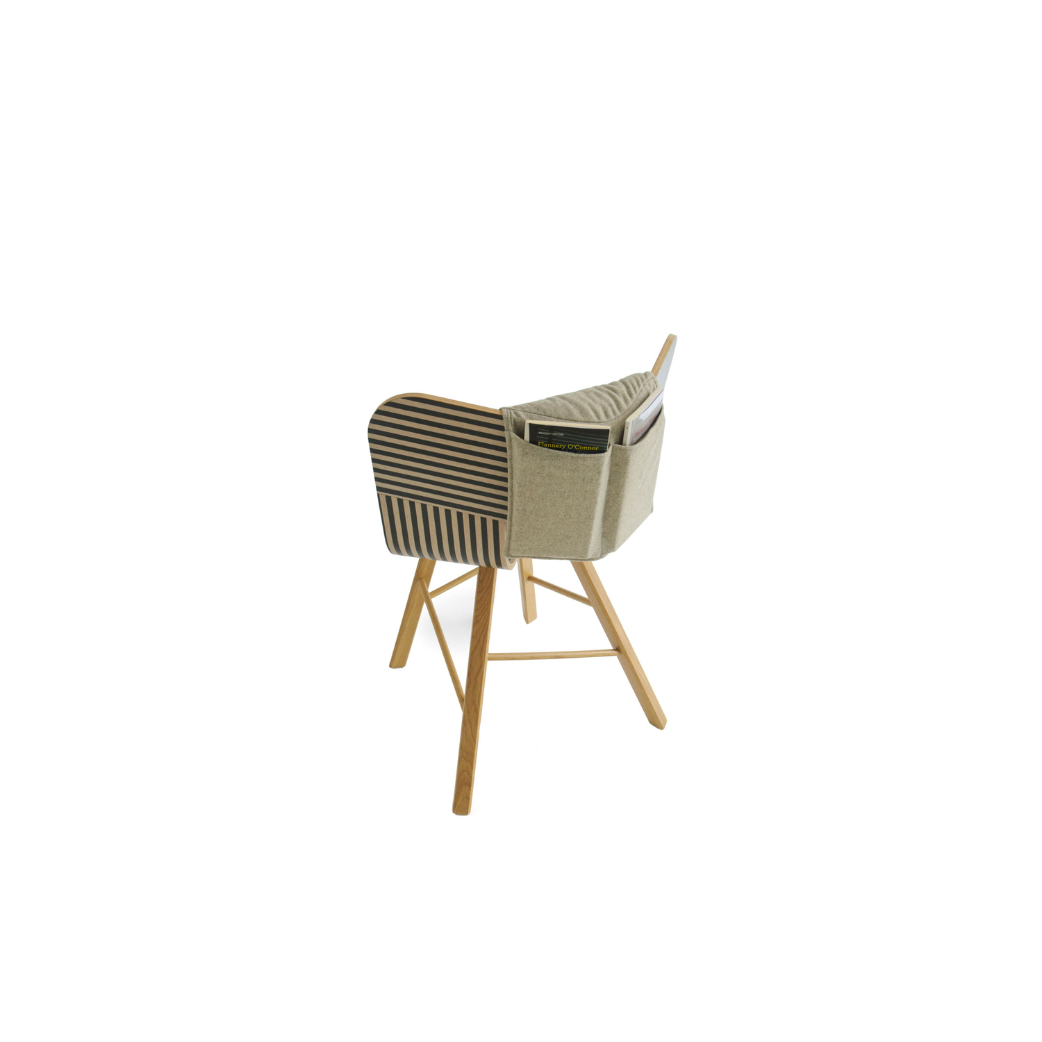 Tria 4 Chair with Cushion - Tria Cushion Specially designed and tailor made for Tria chairs, simply wrapped around Tria's back, it evokes the gesture of saddling a horse.