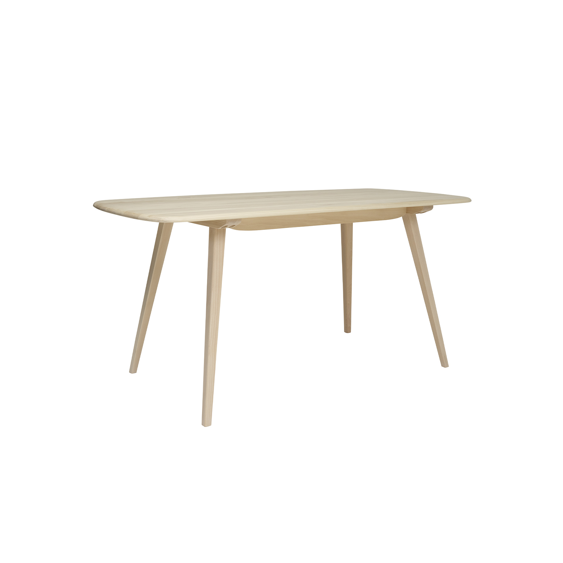 Originals Plank Table - The Ercol Originals are pieces of timeless and classic design that never date or show their age. It is furniture that is as relevant and as functional now as it was when it was created in the 1950s and 1960s. This furniture was designed by Ercol's founder, Lucian Ercolani, who drew for his inspiration on the time-proven local design and craft in the Chiltern Hills around where he lived and built his first factory in 1920 in High Wycombe. Using the strength of beech and the beauty of elm he carried this definition on into a huge variety of dining, kitchen, and school chairs and then extended the idiom into the low easy chair range epitomised by the 206 armchair and the studio couch. The beauty of the colour and the grain of the elm took Lucian on to use elm for the tables and cabinets of the Originals and the following Windsor range. This stylish dining table boasts outward facing tapered legs and a solid Ash top with attractive rounded edges, creating a simple but contemporary feel. This table seats 4-6 guests. It will be finished in your choice from a selection of lacquer finishes that both protects the timber, whilst enabling you to choose the look to match your style and décor. Alternatively, you can opt for one of Ercol's paint finishes to provide a pop of colour.  | Matter of Stuff