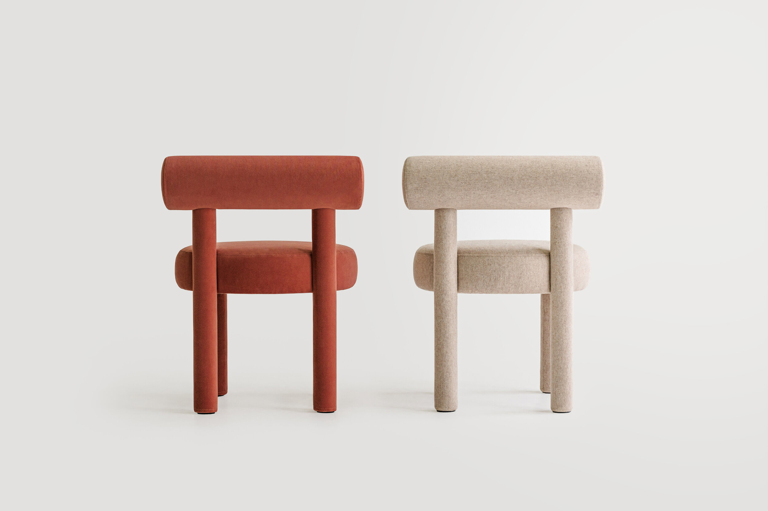 """Chair Gropius CS1 - New NOOM furniture collection is dedicated to the 100th anniversary of the founding of the Bauhaus School in Germany. Ideas of functionalism and conciseness, the combination of craft and art, buildings and objects formed by a composition of simple geometric shapes, are still relevant.   NOOM furniture is a tribute to the great thinkers who formed the modernist principles and brought them to life. The designer has """"gathered"""" the shape of this chair from the cylinders.  All products in the collection are called by names of famous modernist artists and architects. 
