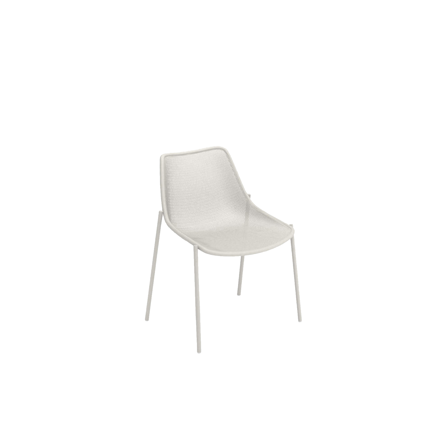 Round Dining Chair - Set of 4 - With its sleek design and option of four finishes this steel chair fits into most outdoor spaces. It is stackable so is easily stored during winter months and comes in a set of four. 
