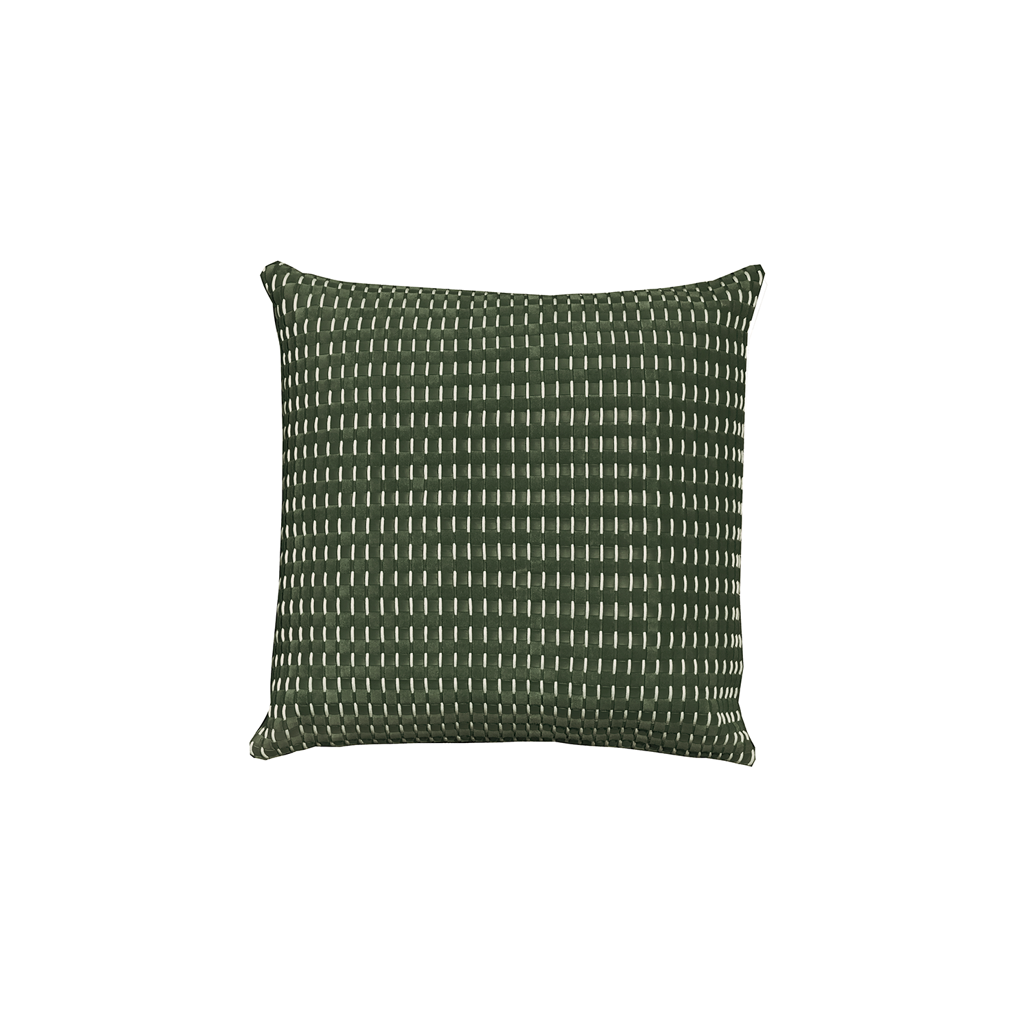 Camboja Woven Leather Cushion Square - The Camboja Woven Leather Cushion is designed to complement an ambient with a natural and sophisticated feeling. This cushion style is available in pleated leather or pleated suede leather. Elisa Atheniense woven handmade leather cushions are specially manufactured in Brazil using an exclusive treated leather that brings the soft feel touch to every single piece.   The front panel is handwoven in leather and the back panel is 100% Pes, made in Brazil.  The inner cushion is available in Hollow Fibre and European Duck Feathers, made in the UK.  Please enquire for more information and see colour chart for reference.  | Matter of Stuff